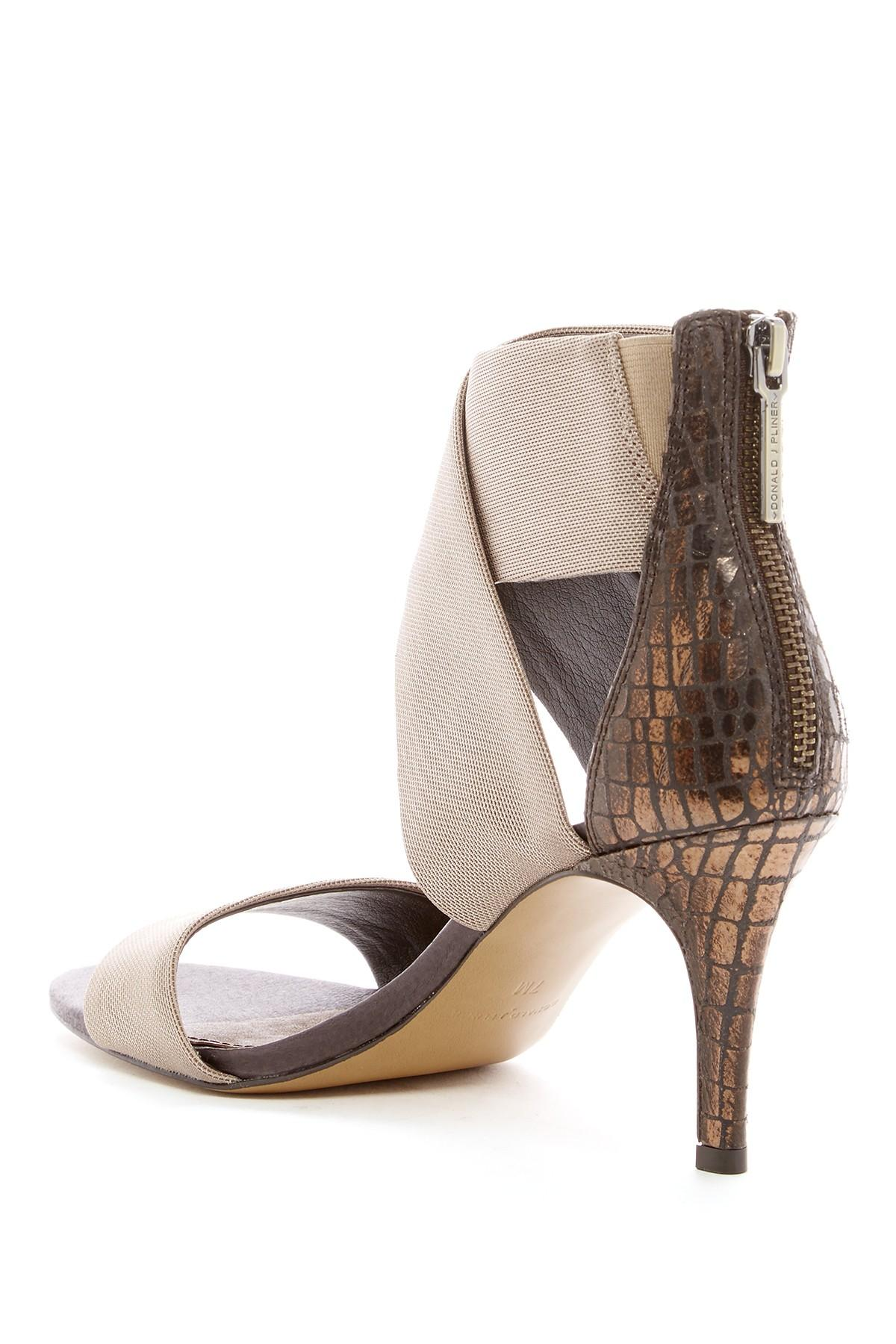 ce33d3168ac3 Lyst - Donald J Pliner Kaye Lizard-embossed Heeled Sandal in Brown
