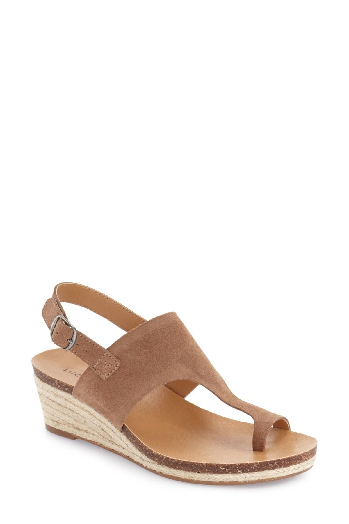 Lucky Brand Janessa Espadrille Wedge Sandal In Brown Lyst