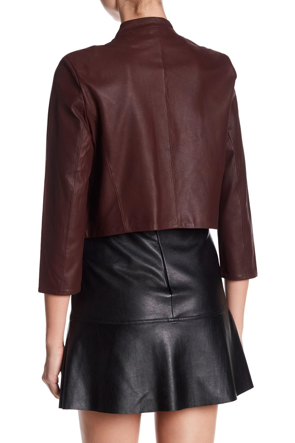 3 4 sleeve leather jacket