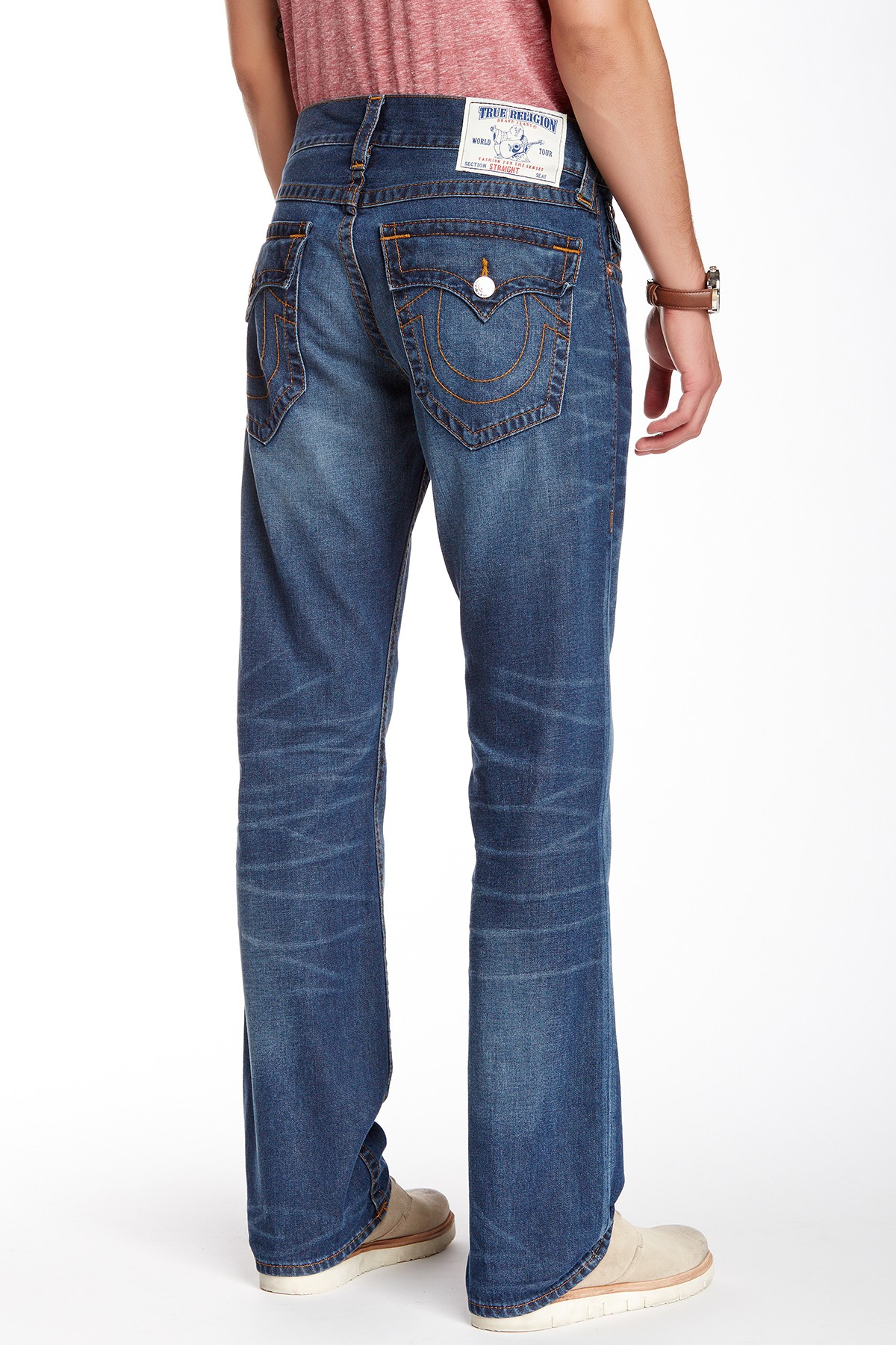 Lyst True Religion Ricky Inglorious Contrast Jeans In