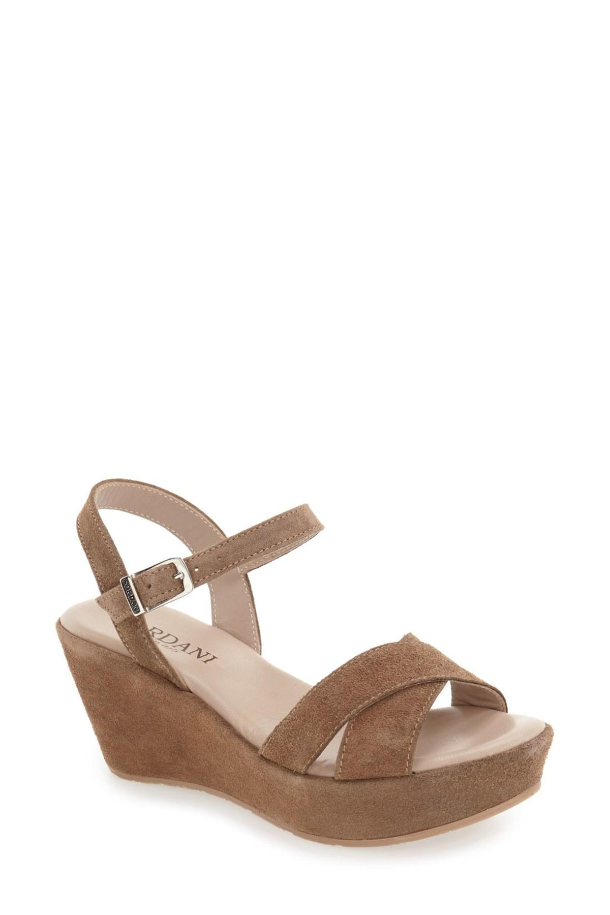 Cordani 'garda' Platform Wedge Sandal in Brown
