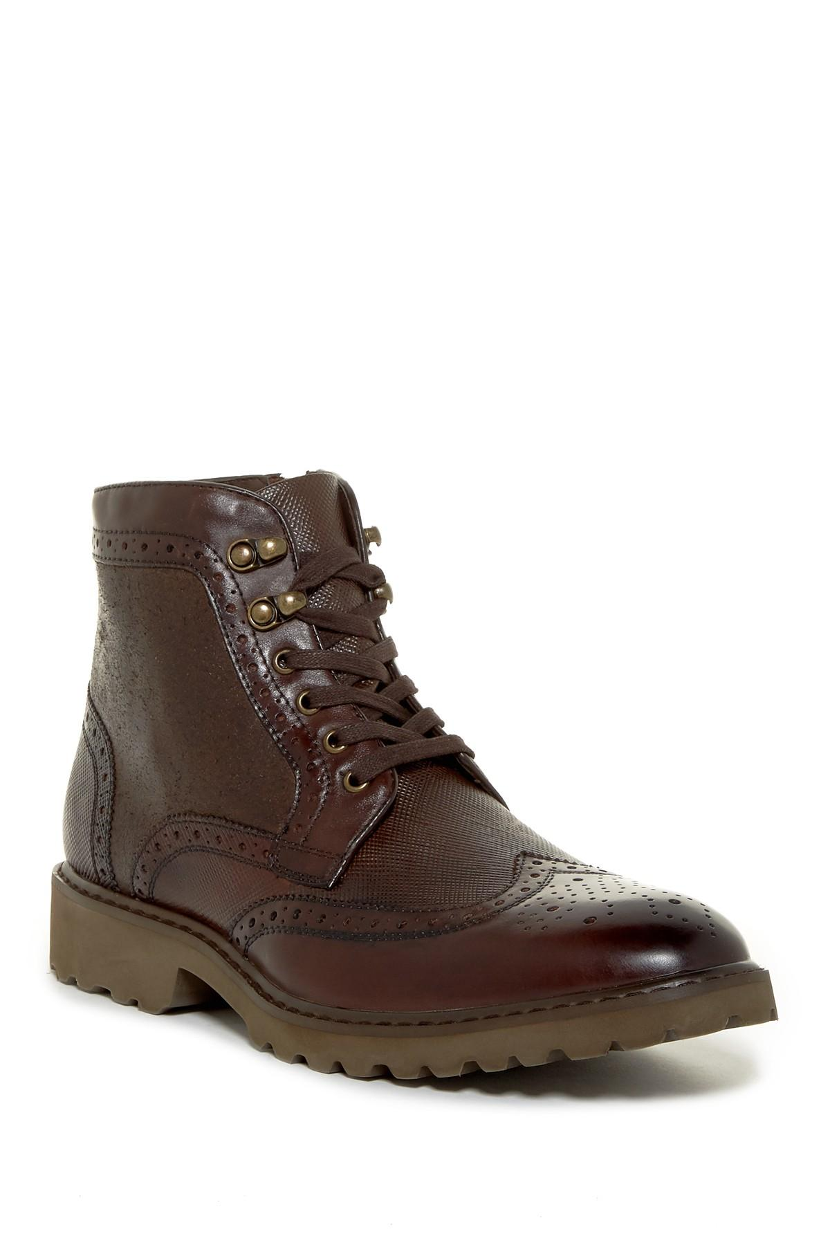 Lyst Steve Madden Morreau Lace Up Boot In Brown For Men