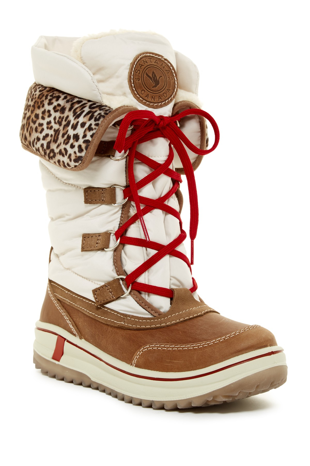 c69a97c944c Santana Canada Multicolor Mirabelle Waterproof Faux Fur Lined Lace-up Boot