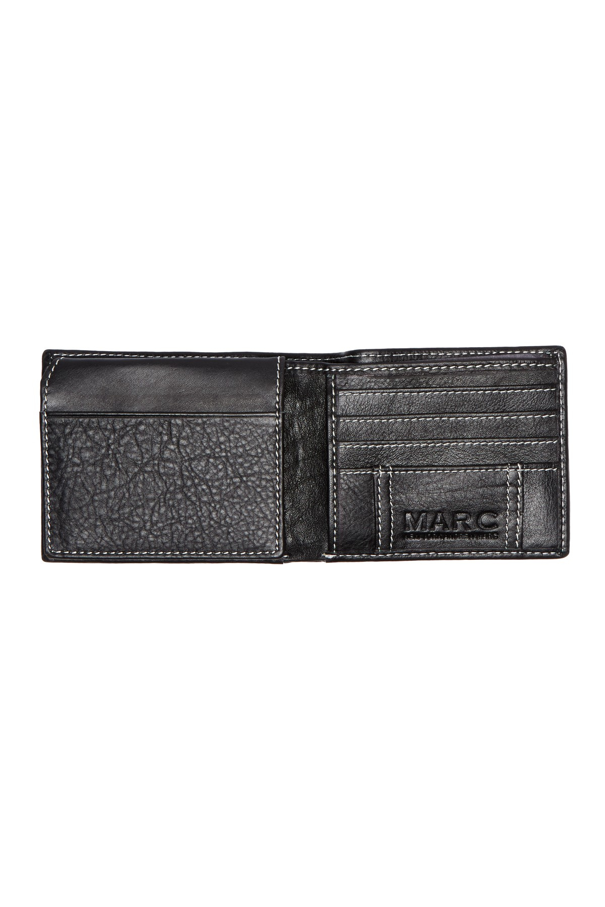 Marc new york sergio leather passcase wallet in black for for Nordstrom rack new york