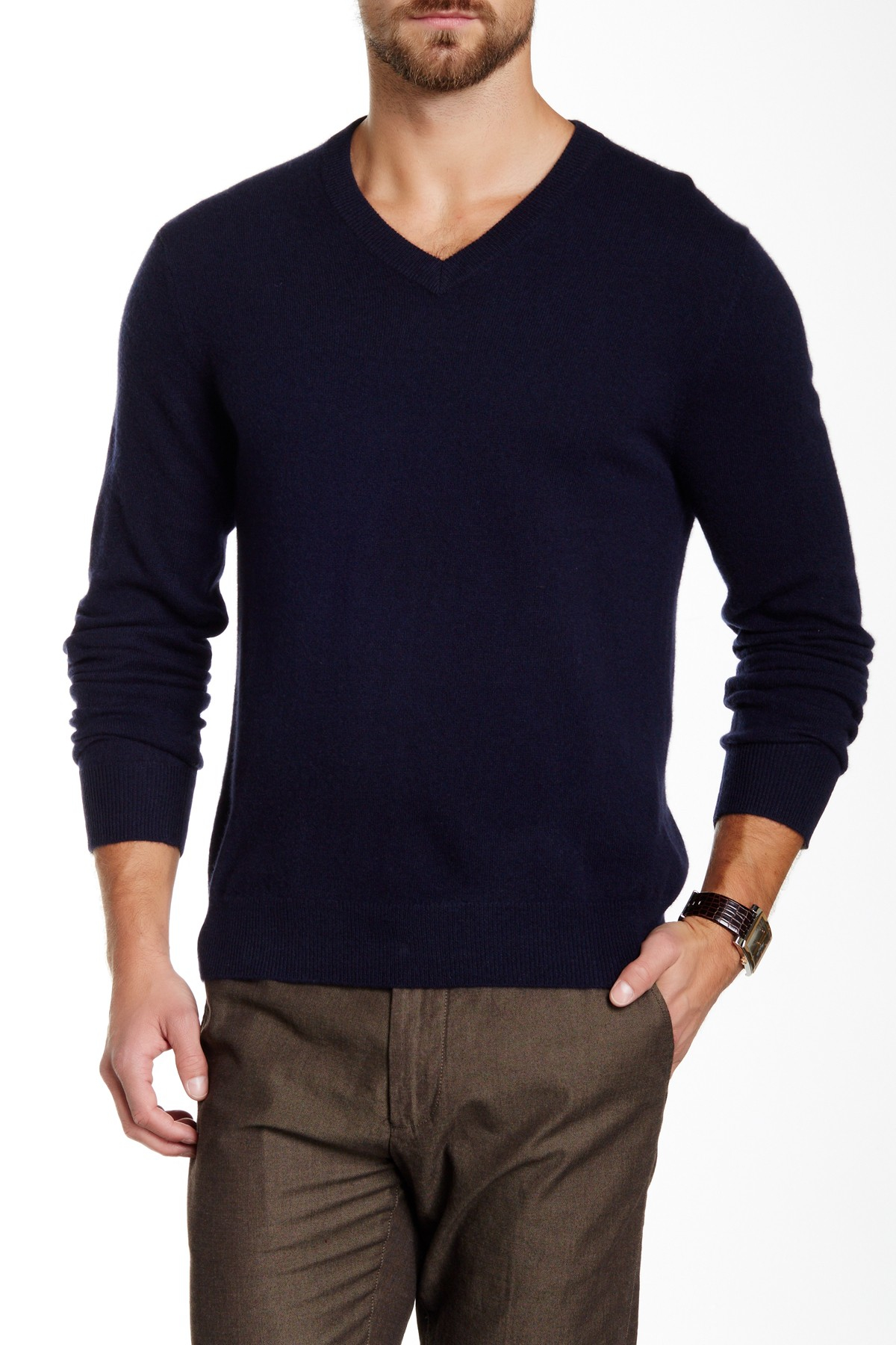 Shop blue cashmere v neck sweater at Neiman Marcus, where you will find free shipping on the latest in fashion from top designers.