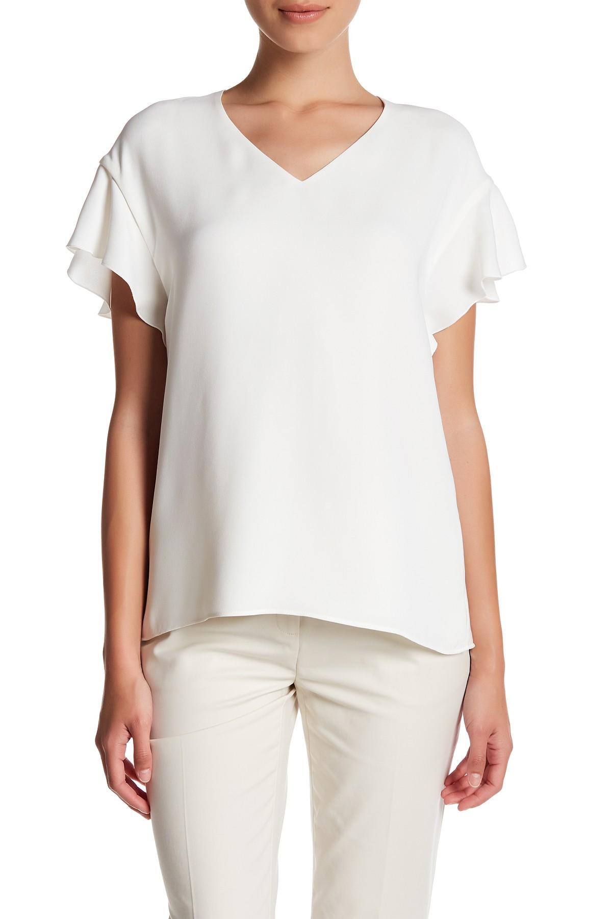 White Silk Blouse Petite | RLDM