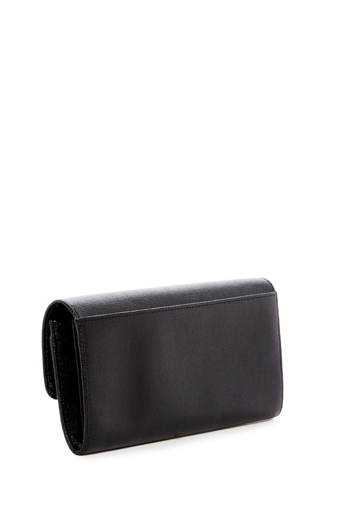 Furla Julia Xl Leather Bifold Wallet In Black Lyst