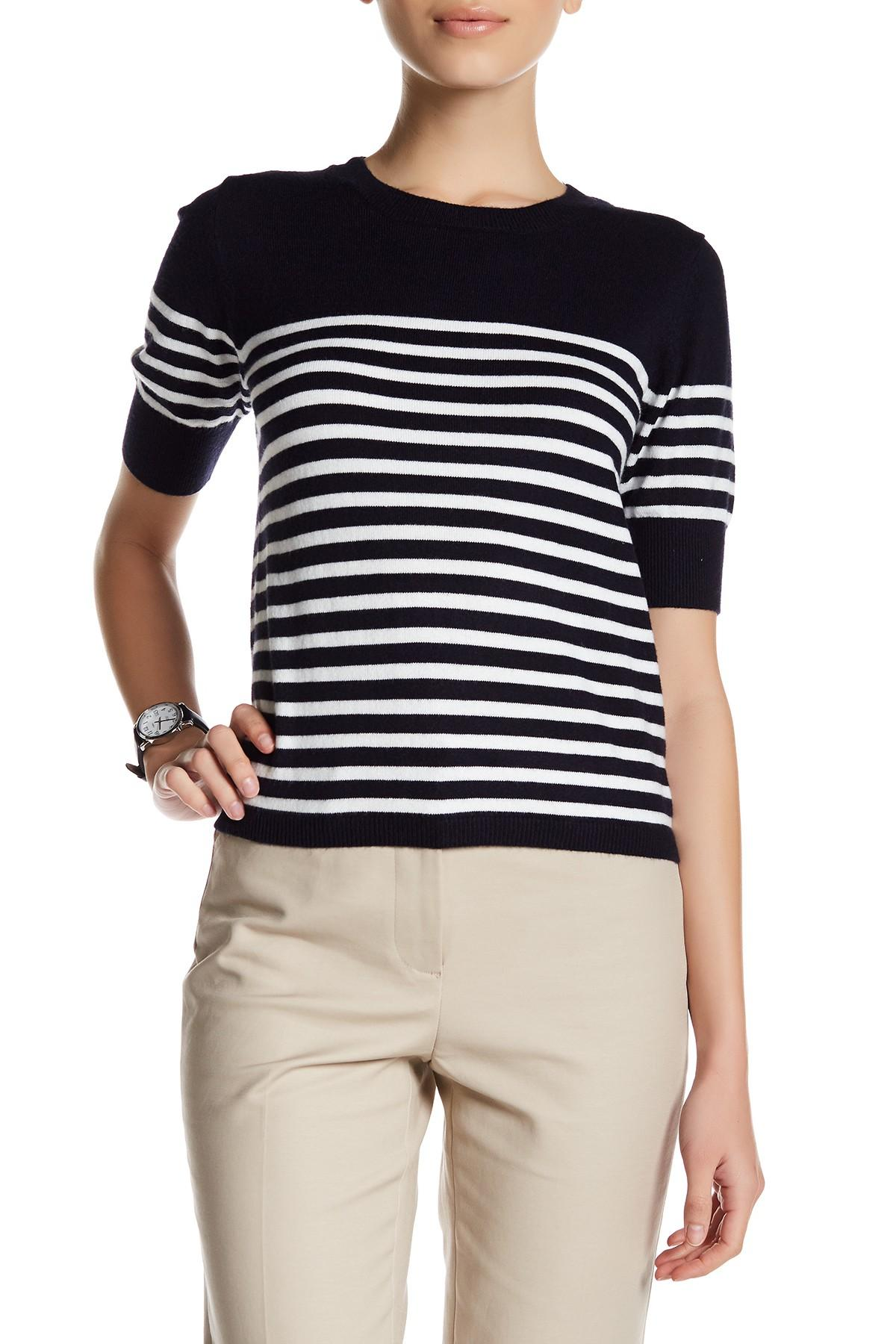 Lyst - Premise Studio Elbow Length Sleeve Striped Sweater