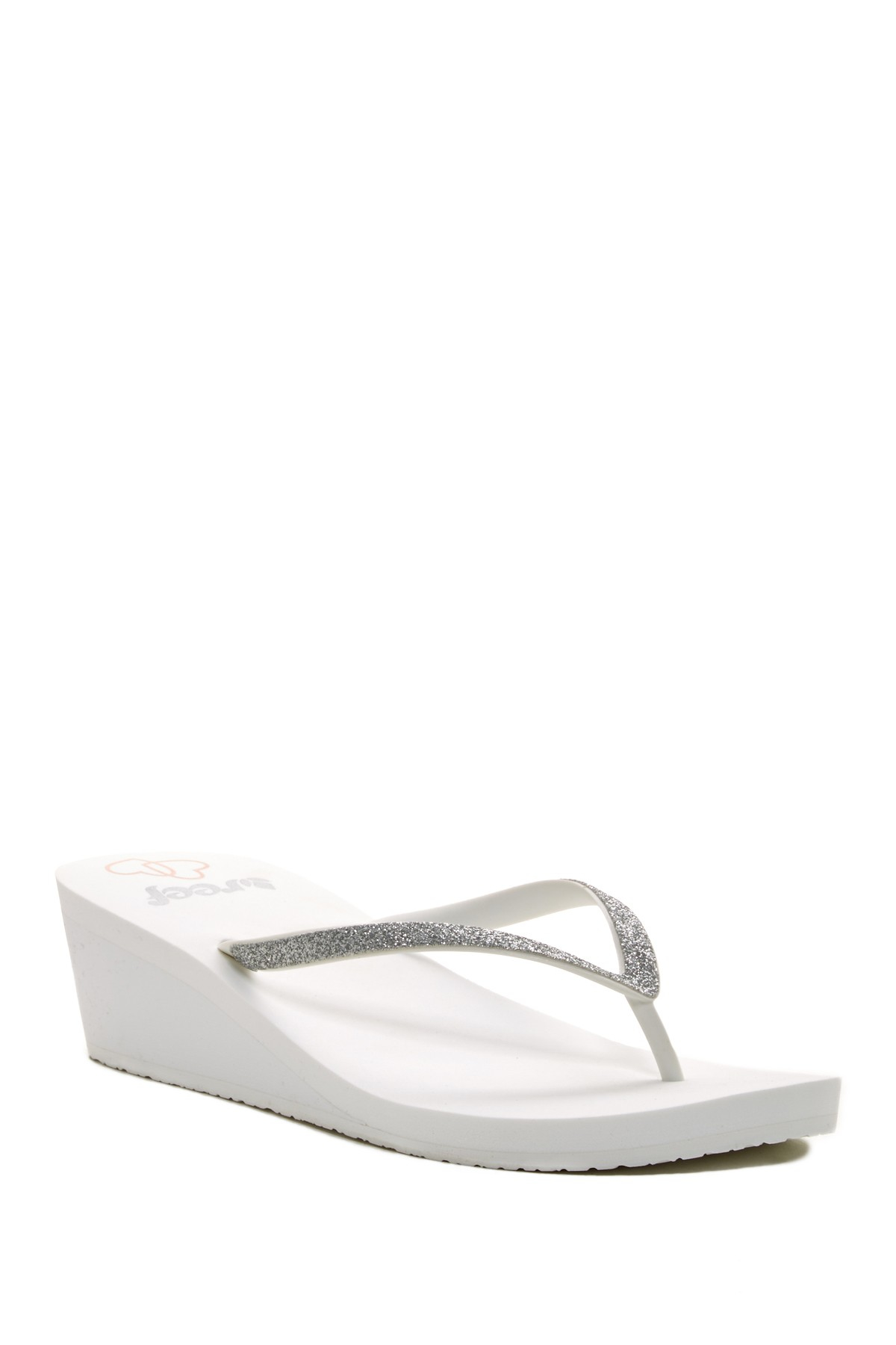 9bb14b61a5b8 Lyst - Reef Krystal Star Platform Wedding Sandal in White