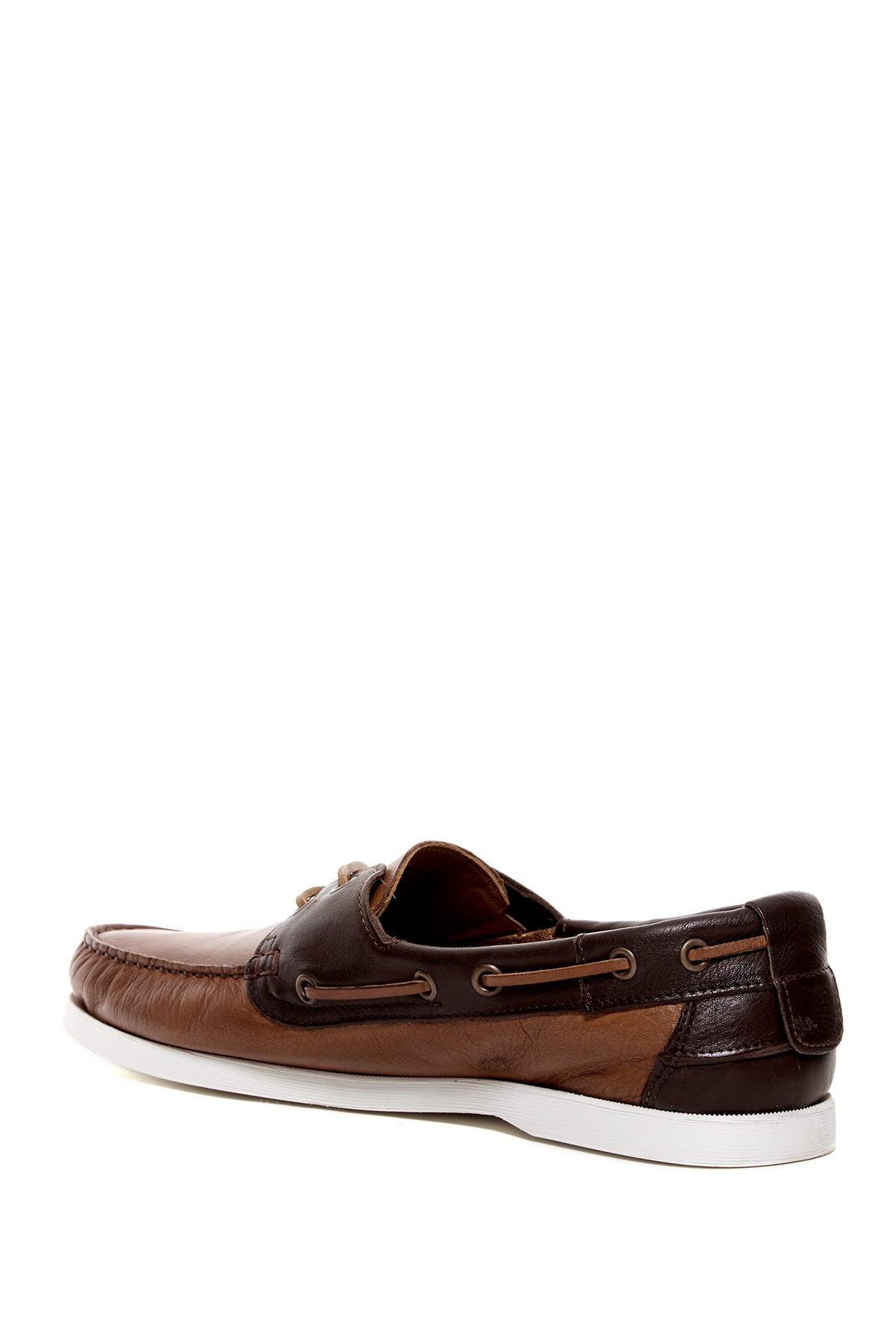 aldo rickerd moc boat shoe in brown for lyst