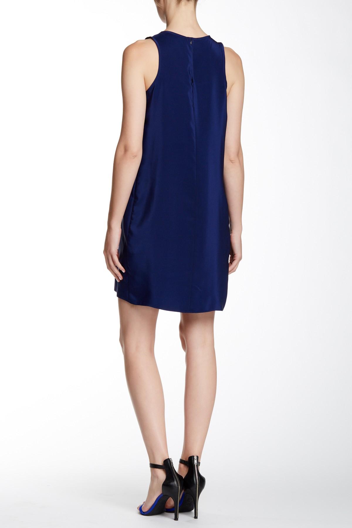 Amanda uprichard diamond silk dress in blue lyst for Diamond and silk t shirts