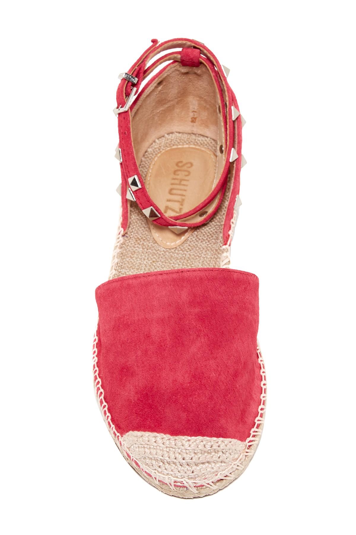 Lyst Schutz Studded Espadrille Flat In Pink