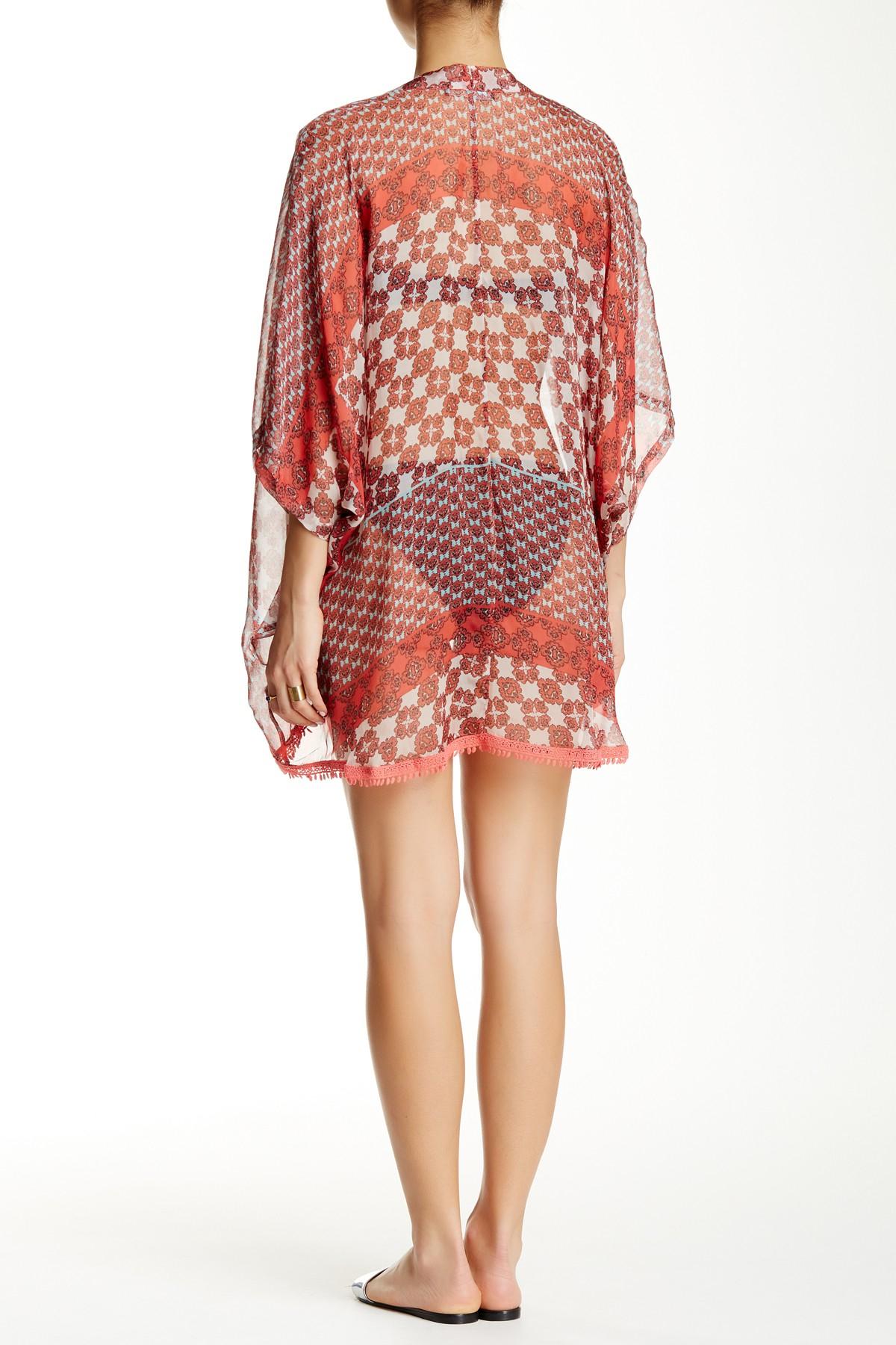 Gypsy 05 Printed Silk Easy Kimono Lyst