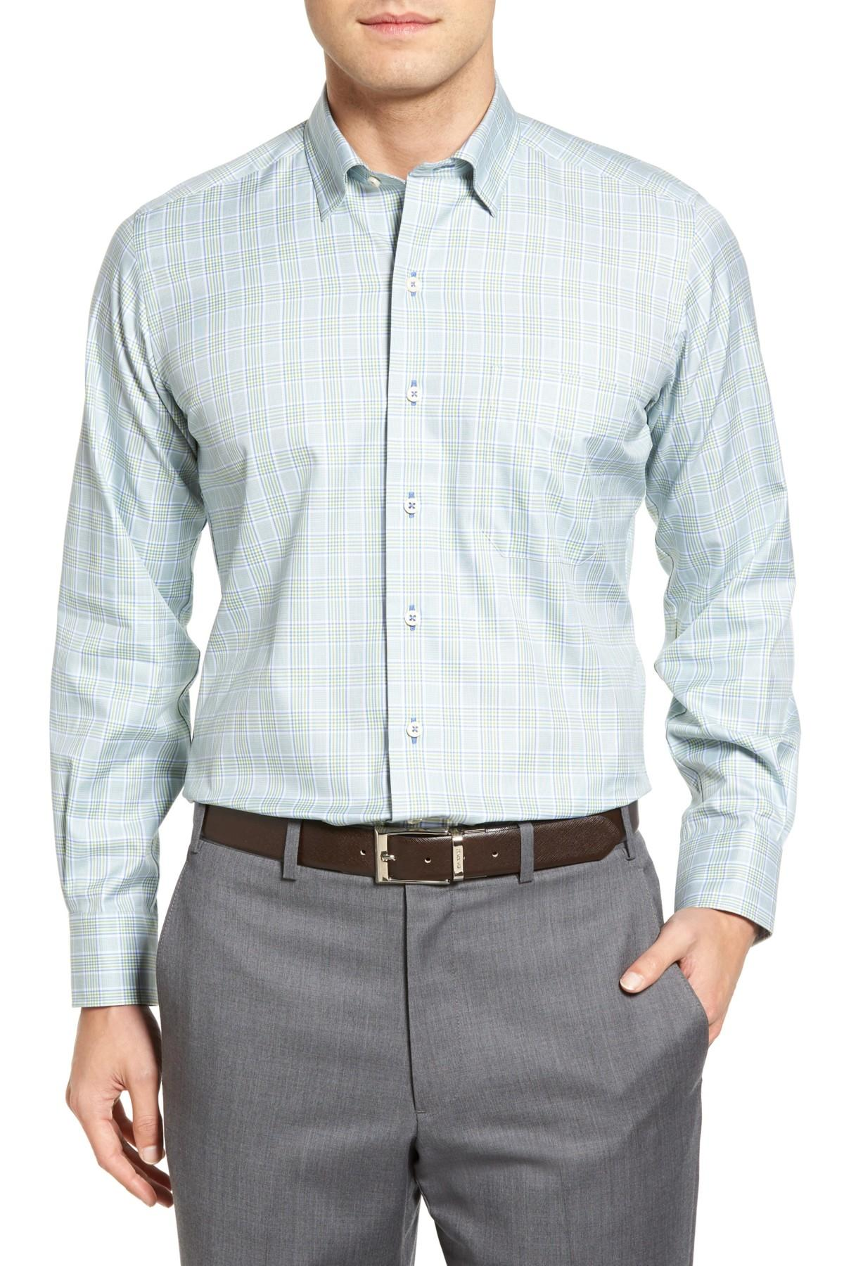 David Donahue Sport Shirt In Blue For Men Lyst
