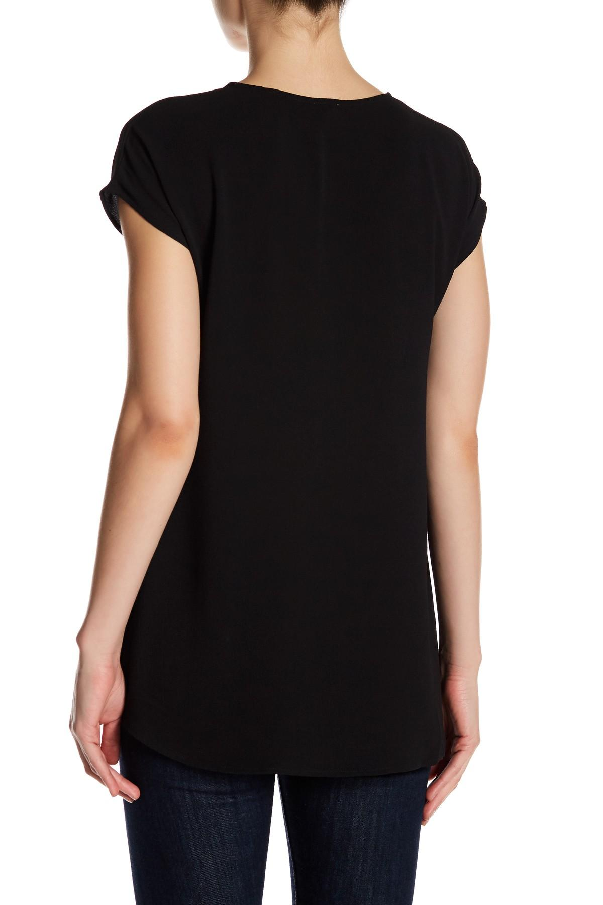 Lyst Spense Cap Sleeve Pleat Blouse In Black