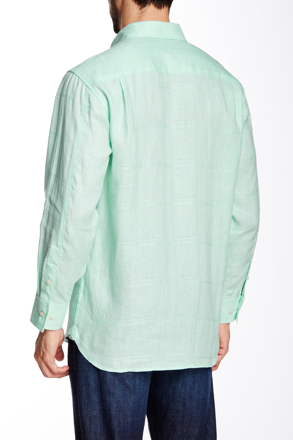 Lyst tommy bahama tropez long sleeve regular shirt in for Tommy bahama long sleeve dress shirts