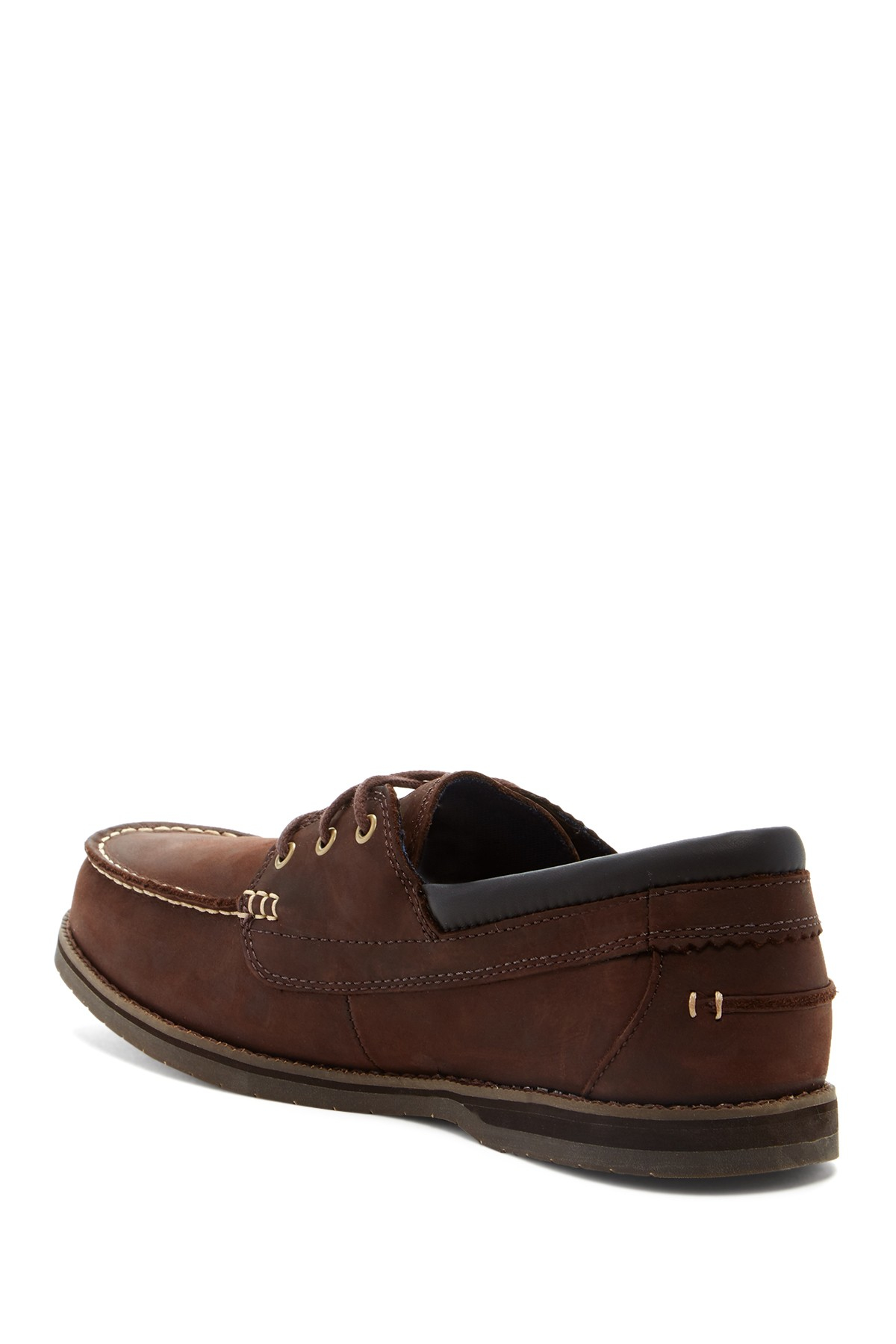 Timberland Alton Bay 3 Eye Boat Shoe In Brown For Men Lyst