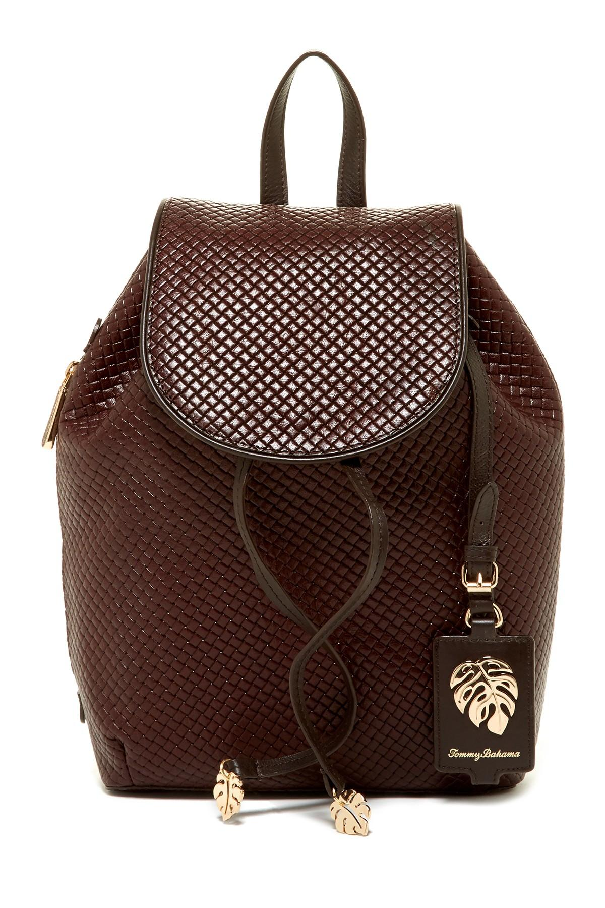 Lyst Tommy Bahama St Augustine Leather Backpack In Brown