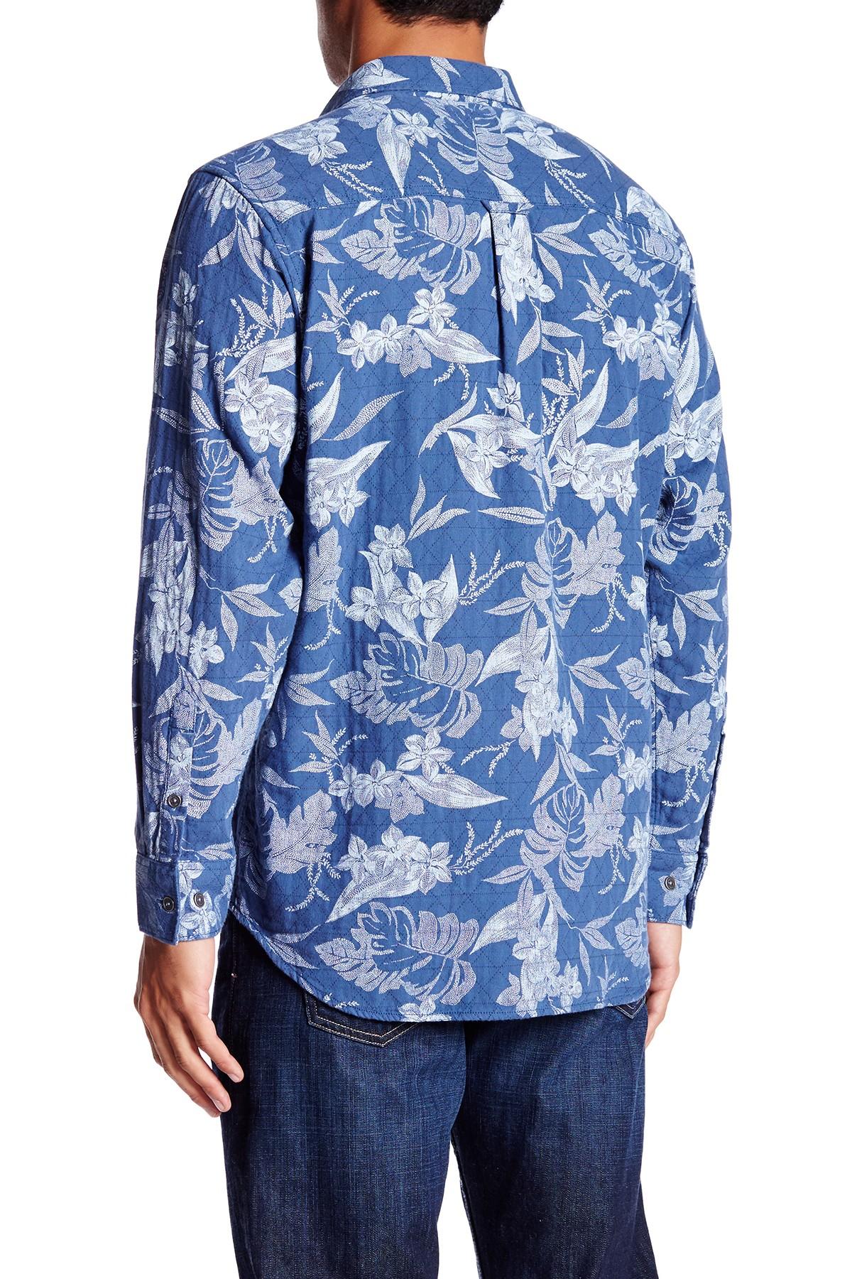 Tommy bahama quiltland tropical print long sleeve regular for Tommy bahama long sleeve dress shirts
