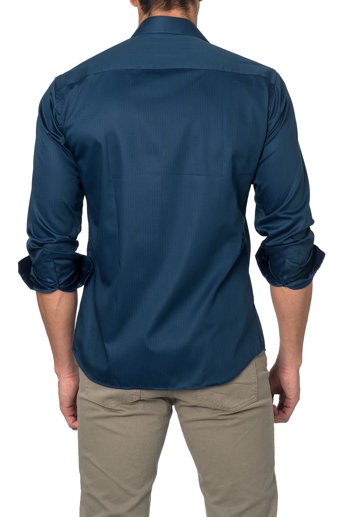 Lyst Jared Lang Solid Semi Fitted Shirt In Blue For Men
