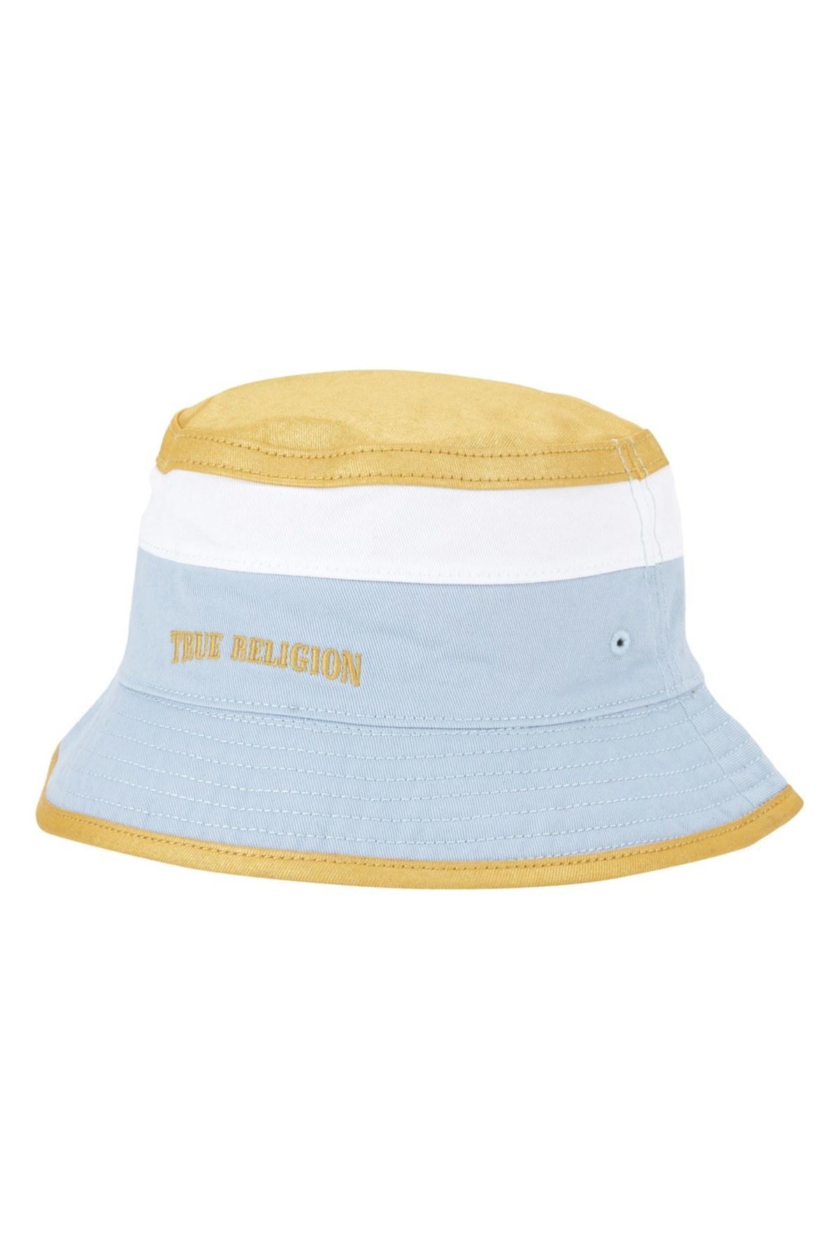 true religion reversible colorblock hat in blue lyst