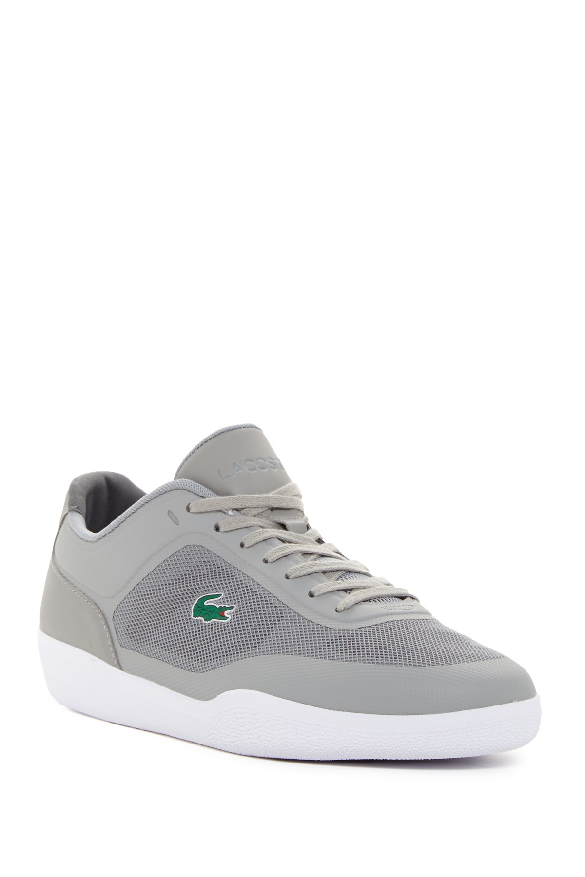 lacoste tramline sneaker in gray for men lyst