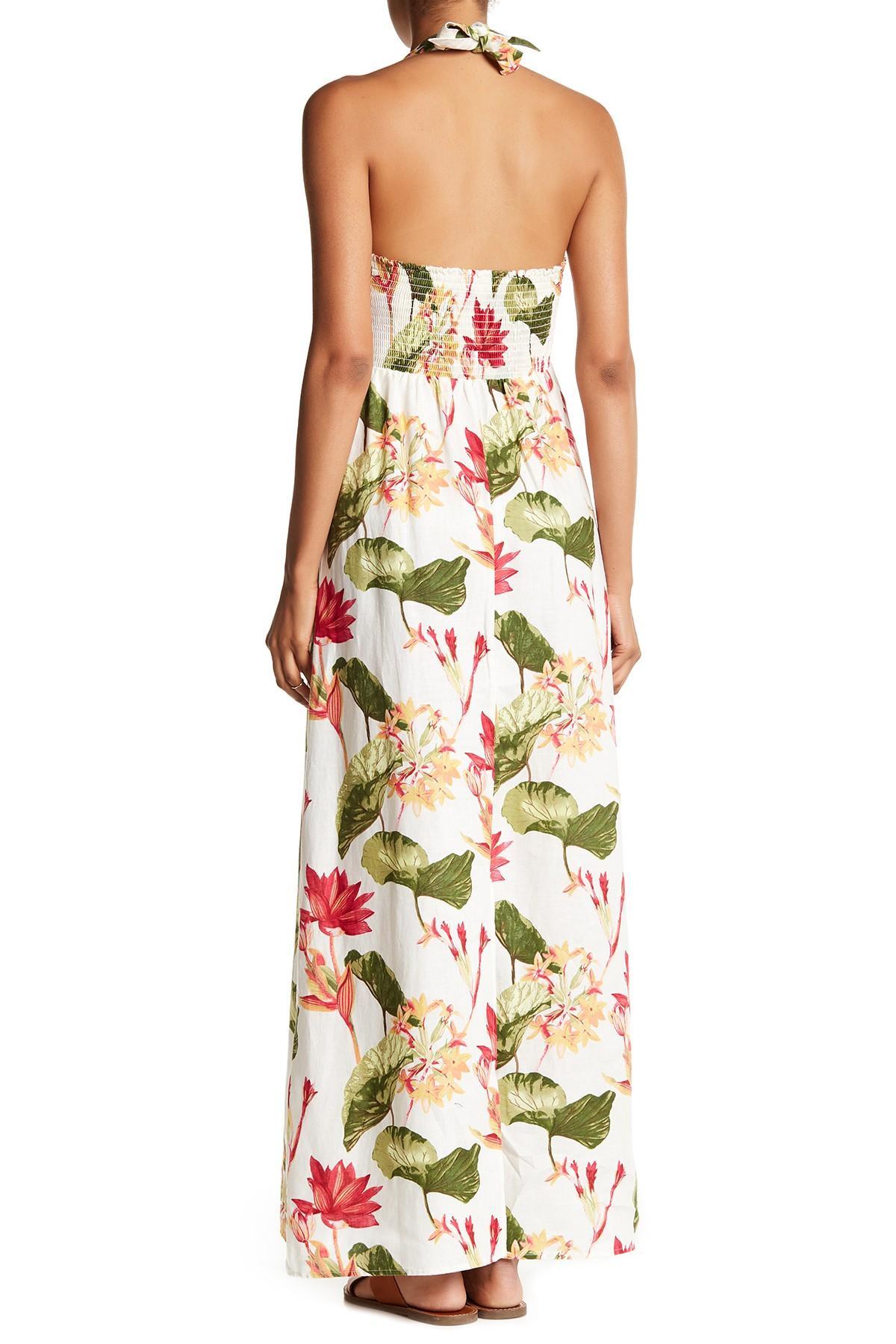 Lyst Tommy Bahama Tropical Lilies Halter Linen Dress