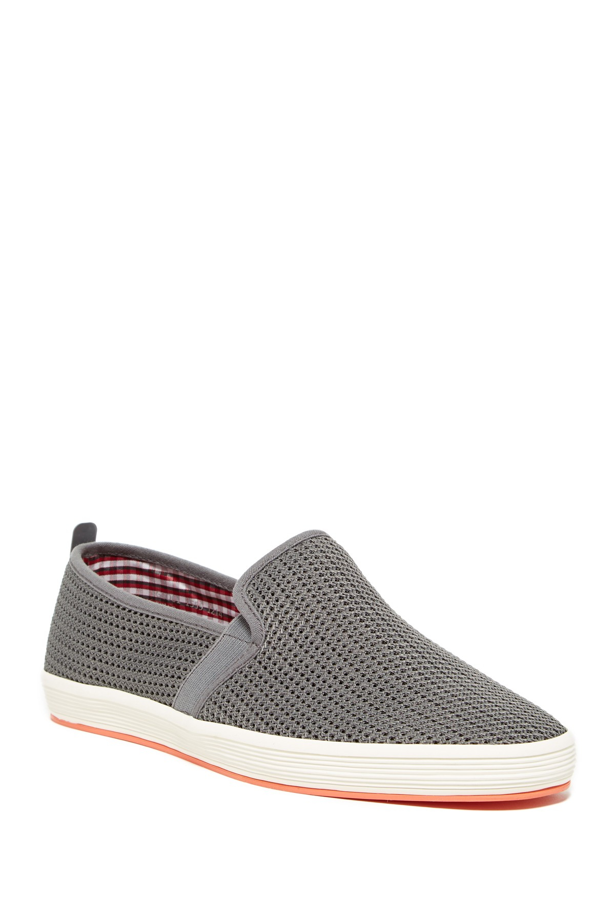 Fish n chips fry 2 mesh slip on in grey for men grey for Fish and chips shoes