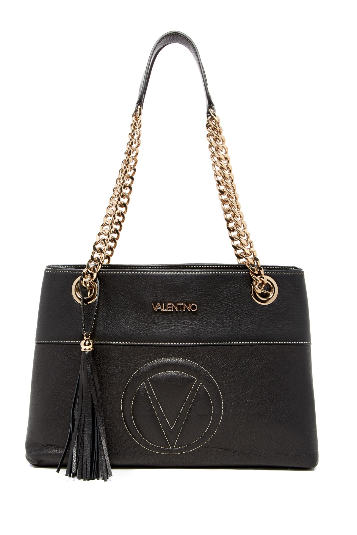 8d55ca2ab18 Valentino by mario valentino Verra Leather Sauvage Shoulder Bag in Black |  Lyst