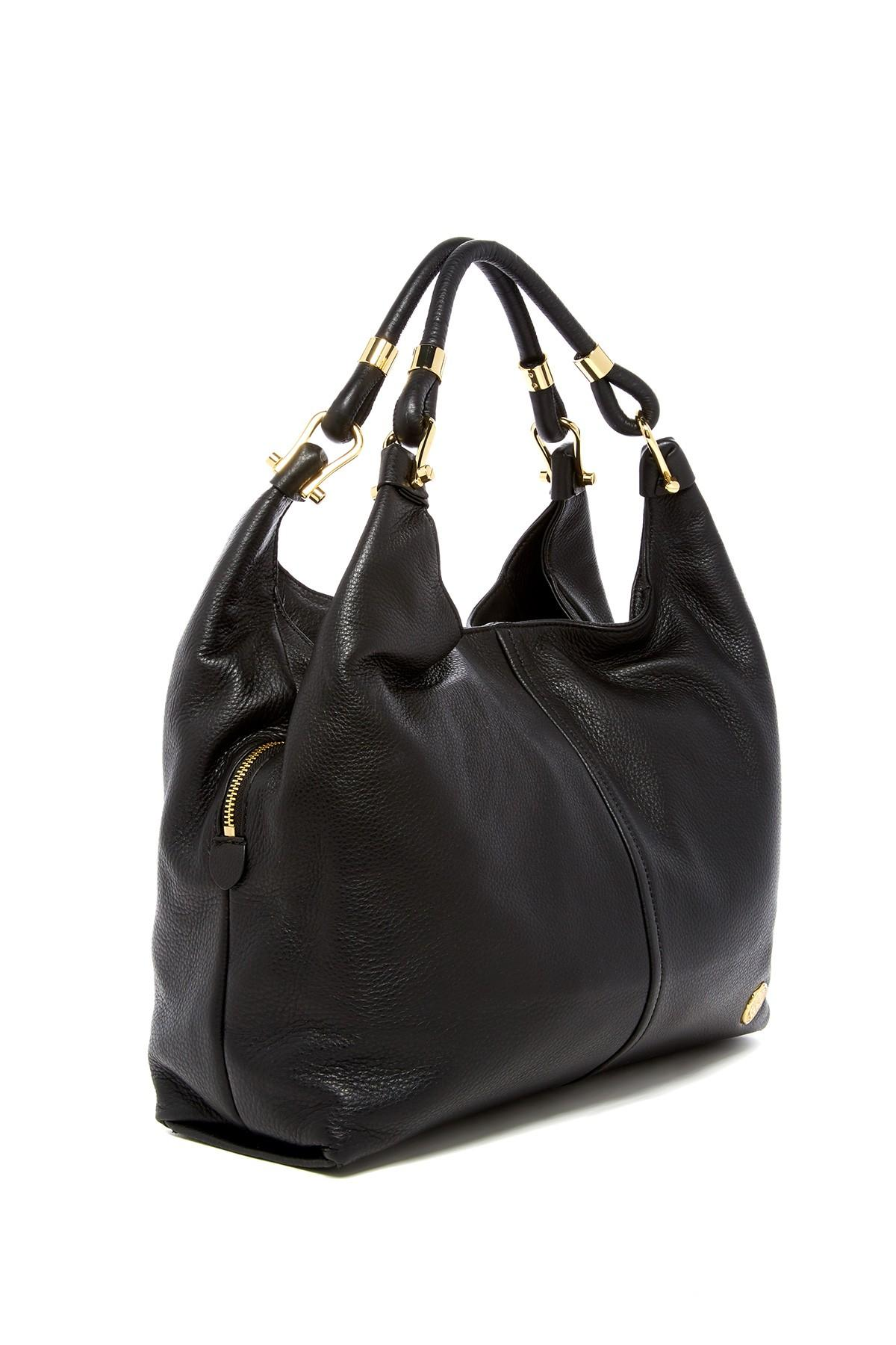 Vince Camuto Aza Leather Tote In Black Lyst