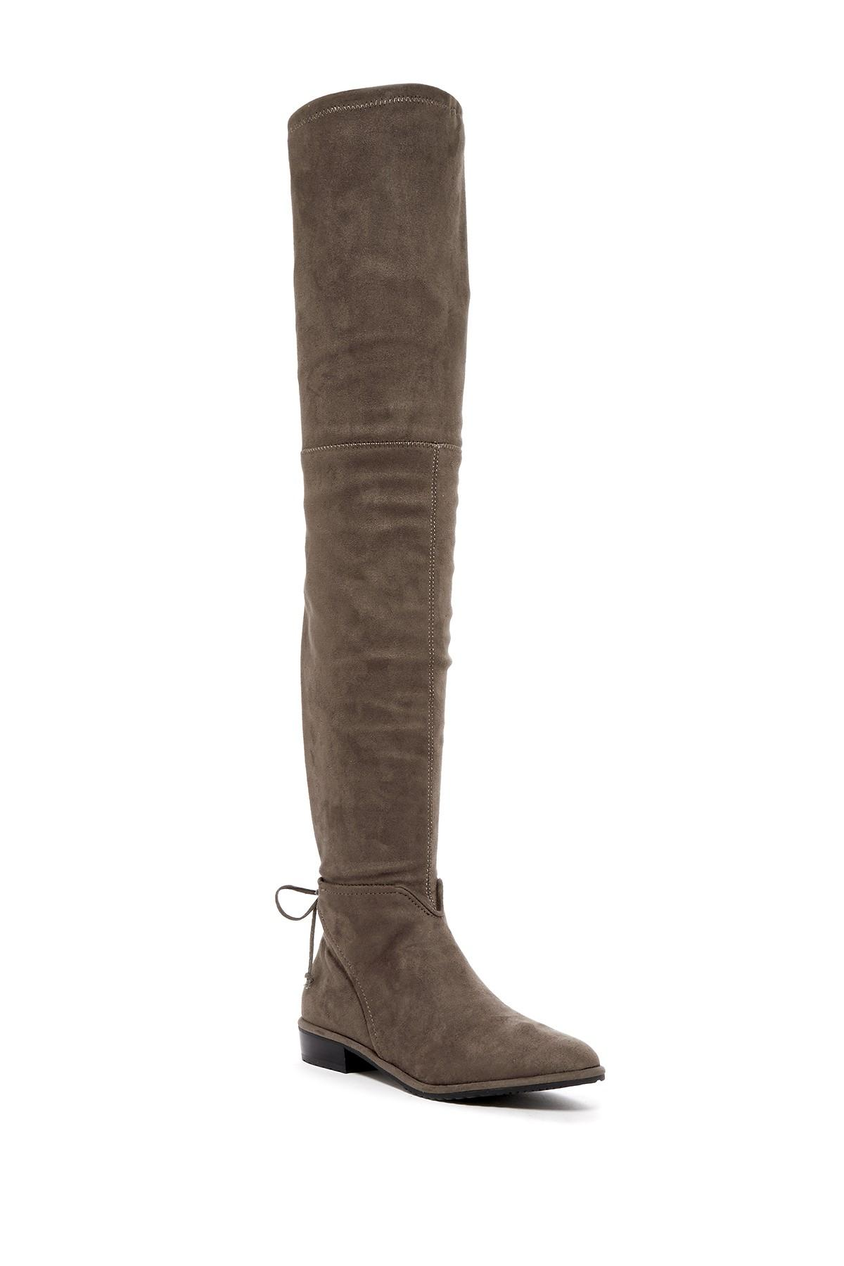 vince camuto caddea thigh high boot in brown lyst