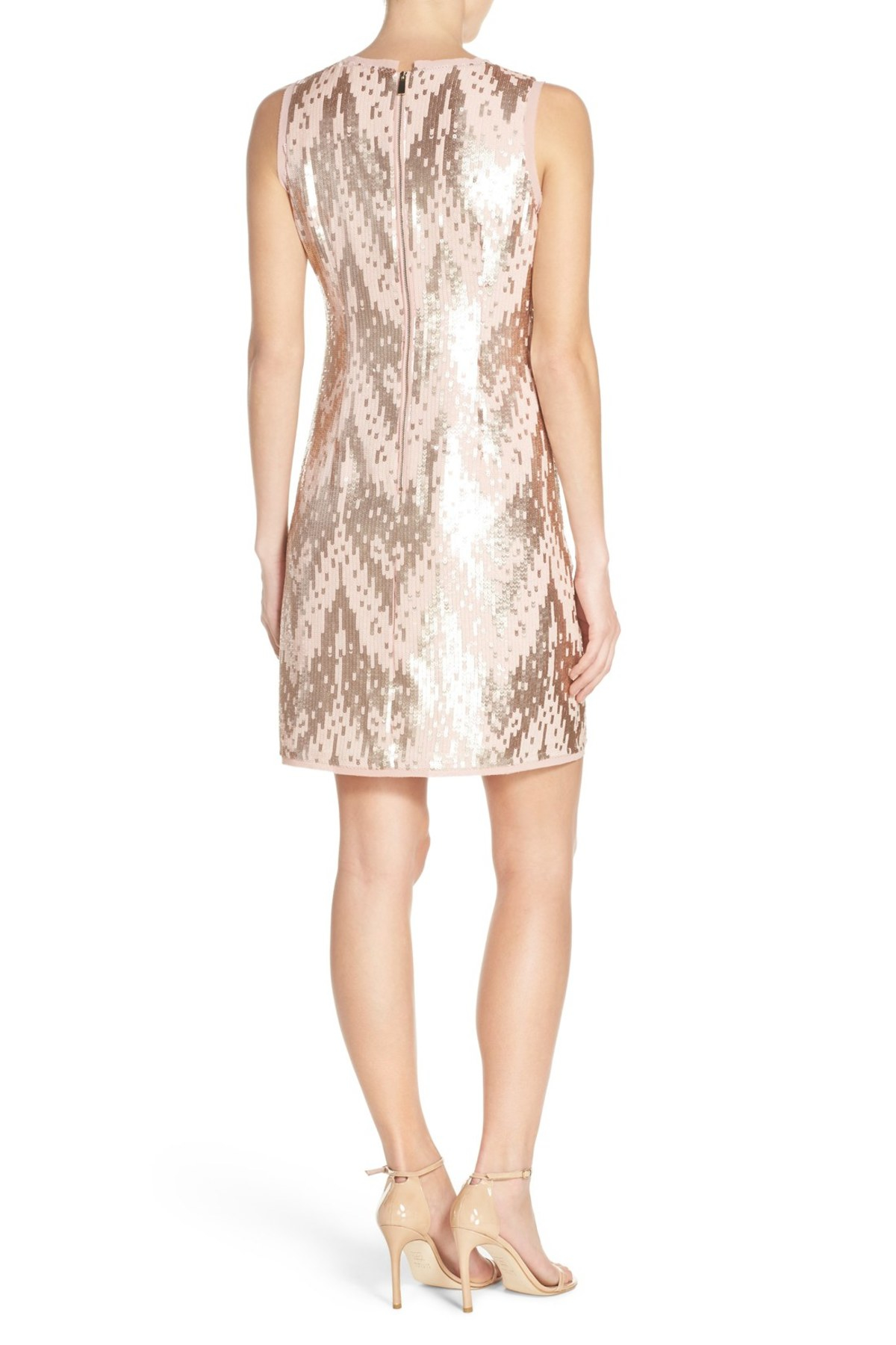 Vince Camuto Synthetic Sequin Sheath Dress Lyst