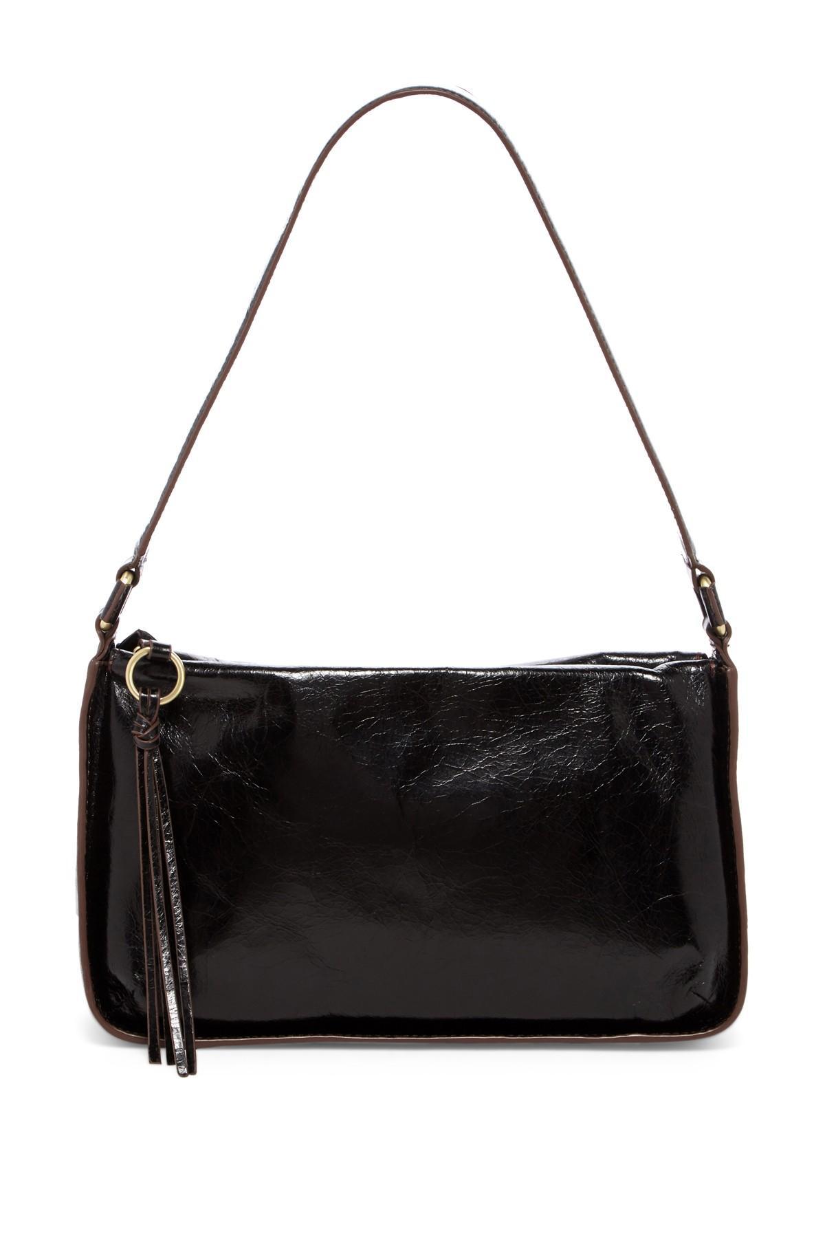 765818ab4d60 Lyst - Hobo Evita Leather Shoulder Bag in Black