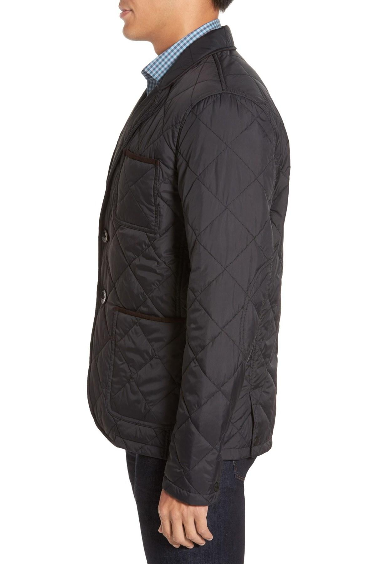 Vince Camuto Water Resistant Quilted Jacket In Black For