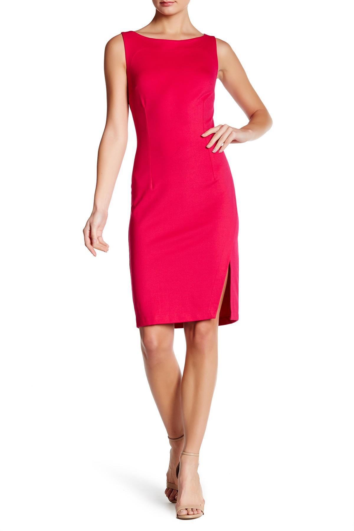 Lyst grayse boatneck sheath dress in pink for Nordstrom rack dresses pour mariage