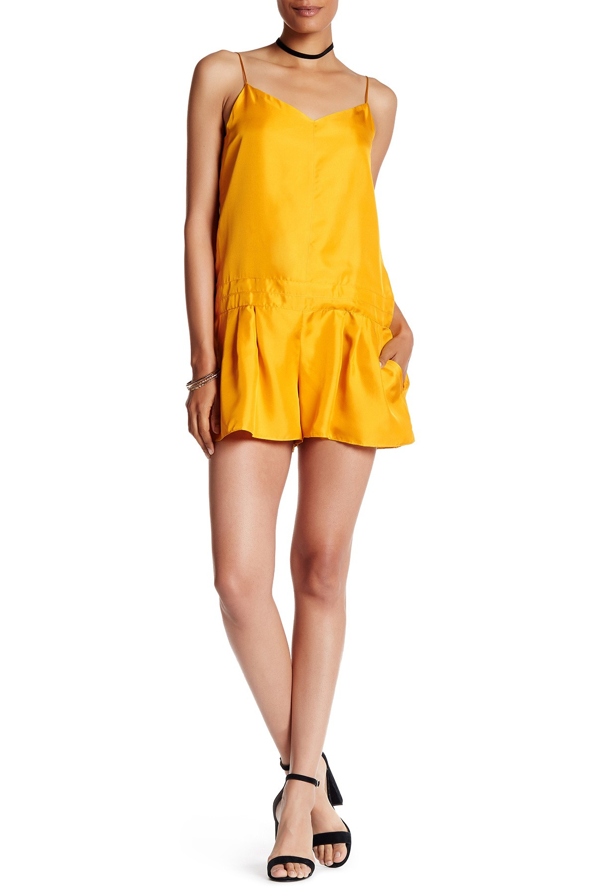 ca66e133fad Lyst - Rag   Bone Dune Silk Romper in Yellow