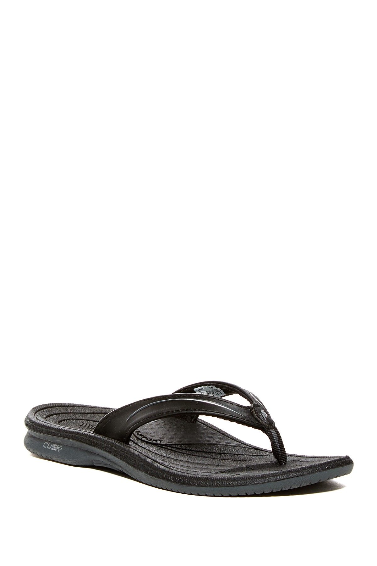 New Balance Cush Plus Thong Sandal In Black Lyst