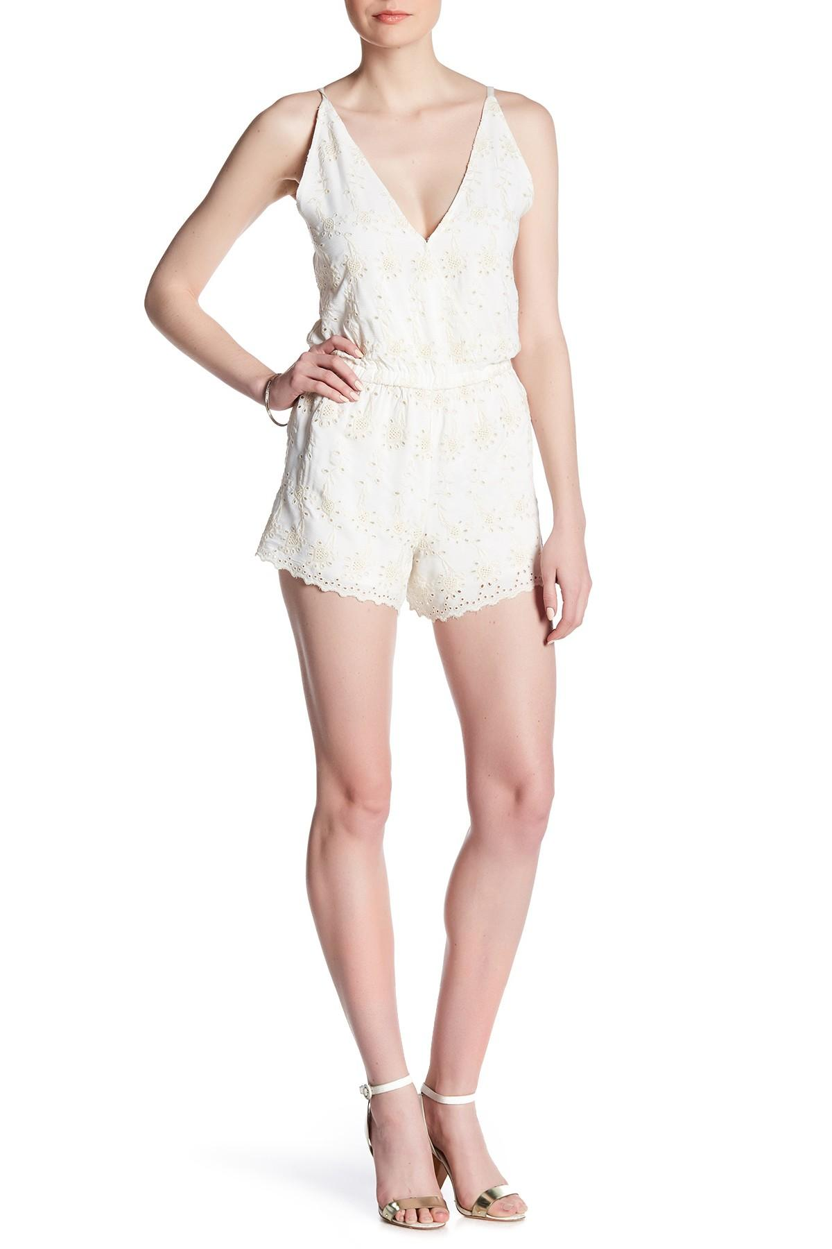 Gypsy 05 Embroidered Romper  Lyst