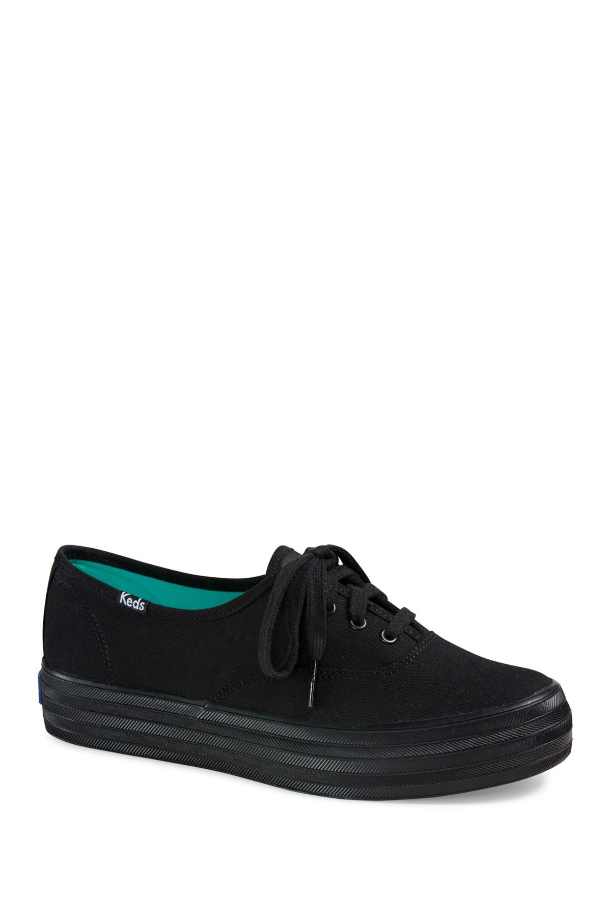 Keds Triple Platform Sneaker in Black