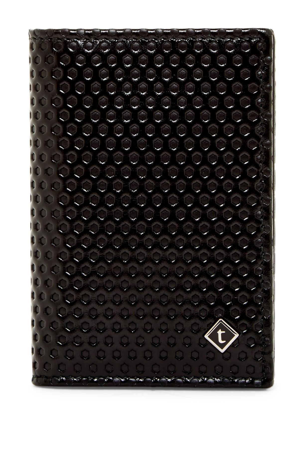 A testoni Nido Ape Leather Business Card Case in Black for