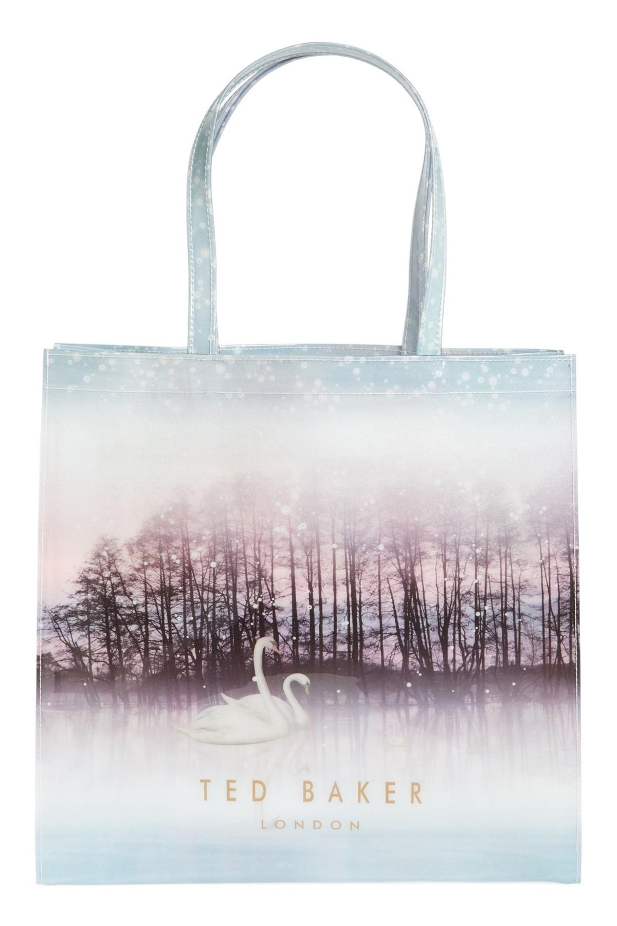 Ted Baker Synthetic Sparkling Swan Large Icon Tote Lyst