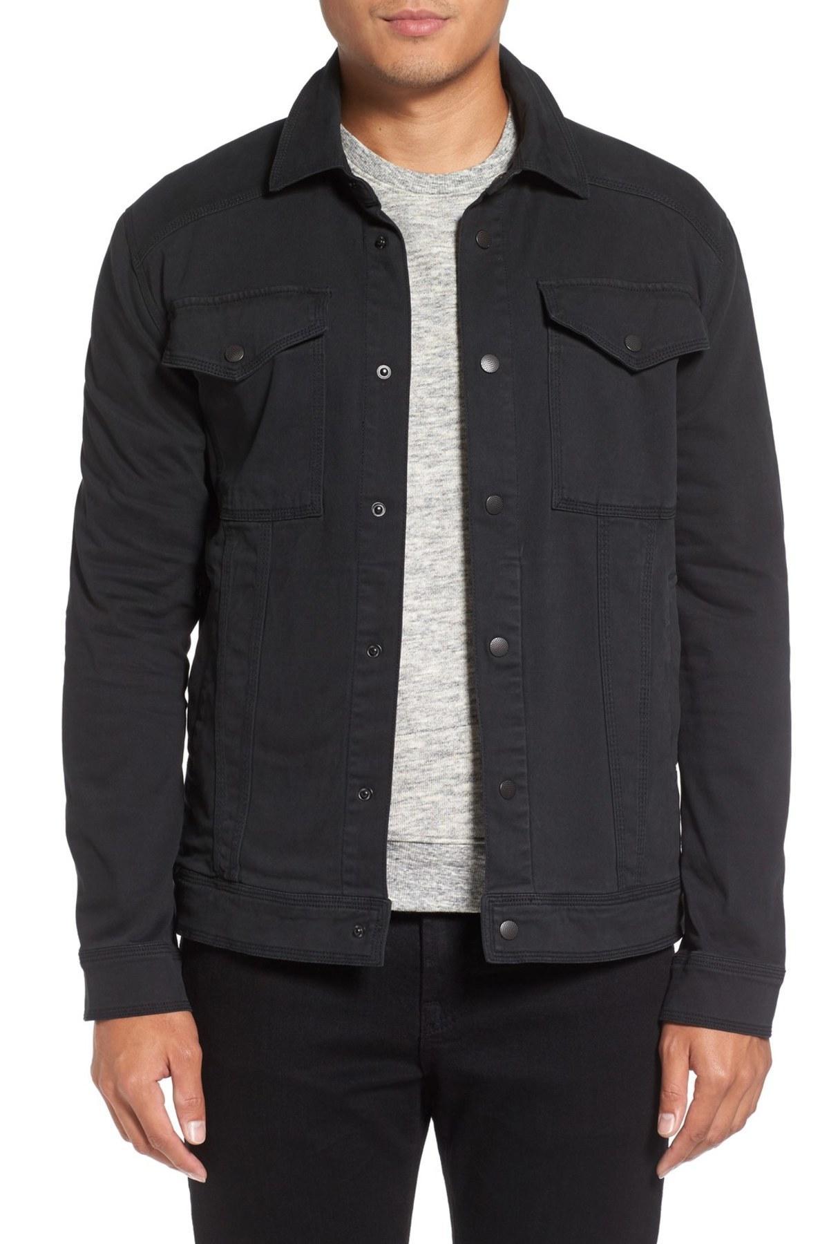 Michael stars Shirt Jacket in Black for Men