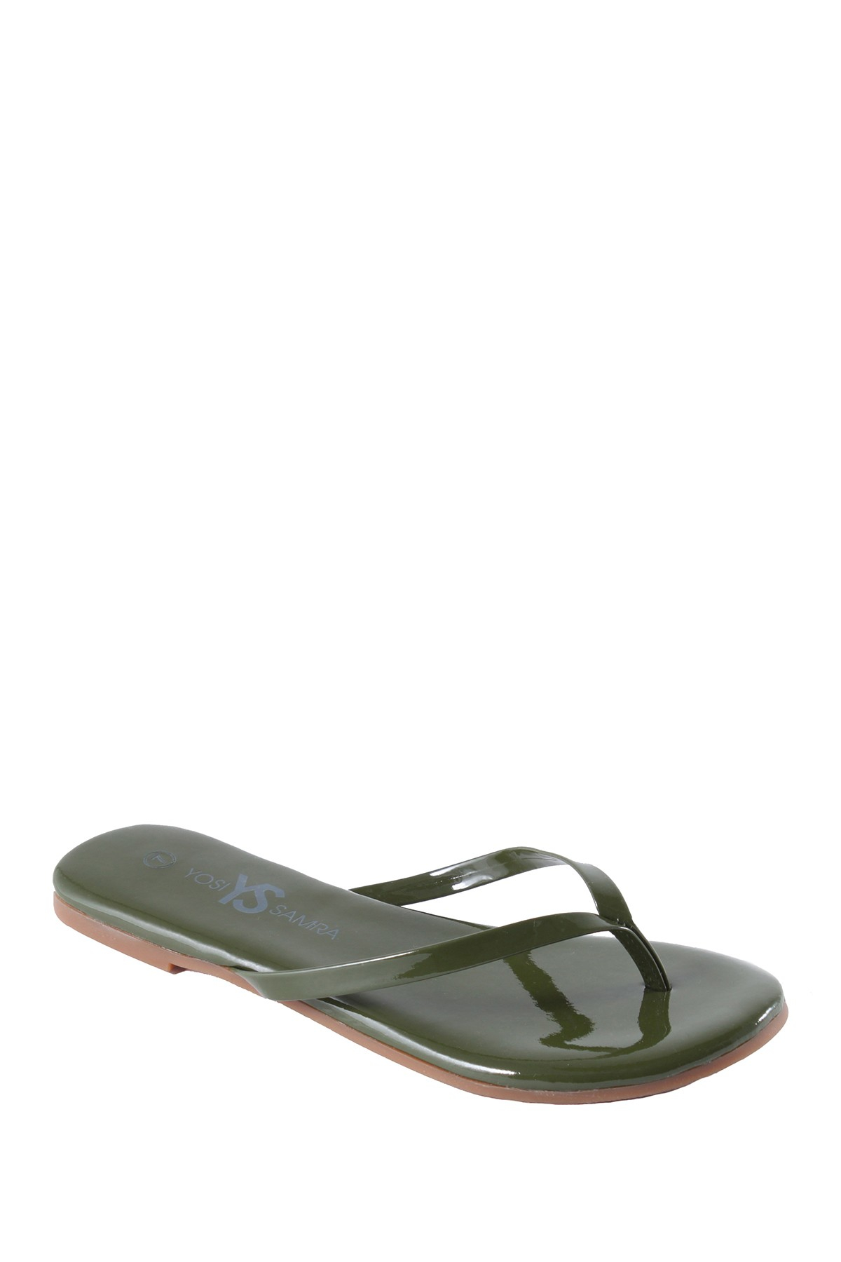 fa03877f5406e Lyst - Yosi Samra Patent Leather Flip-flop in Green