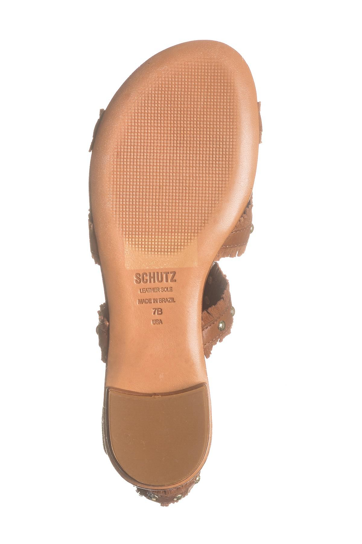 917941858539 Schutz - Brown Nayara Studded Fringe Gladiator Sandal - Lyst. View  fullscreen