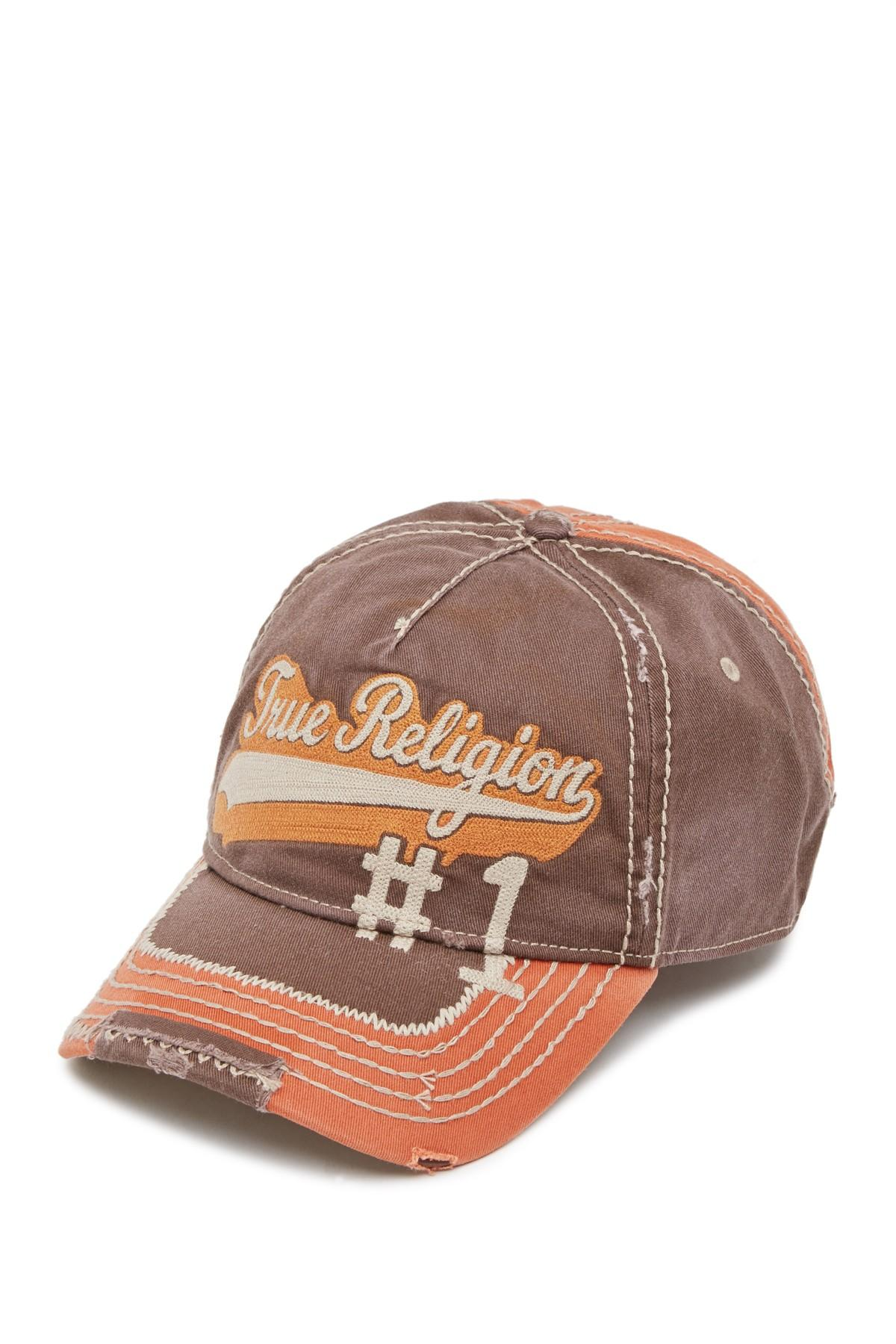 72a16afeea3d7 Lyst - True Religion Script Baseball Cap in Brown for Men