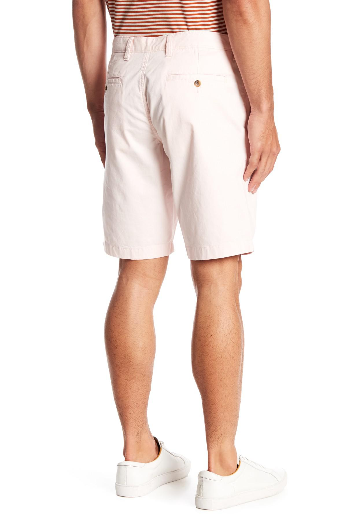 78b78c6909 Lyst - 1901 Ballard Slim Fit Stretch Chino 11-inch Shorts in Pink ...