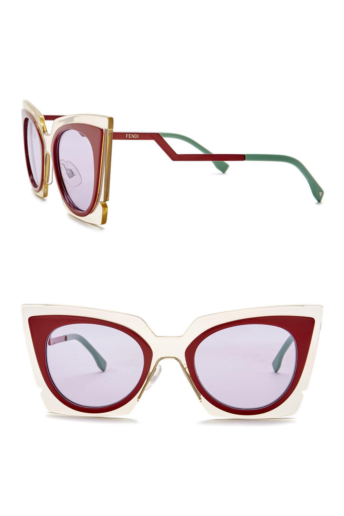 0c72c83202bb3 Fendi 49mm Modified Butterfly Sunglasses - Lyst
