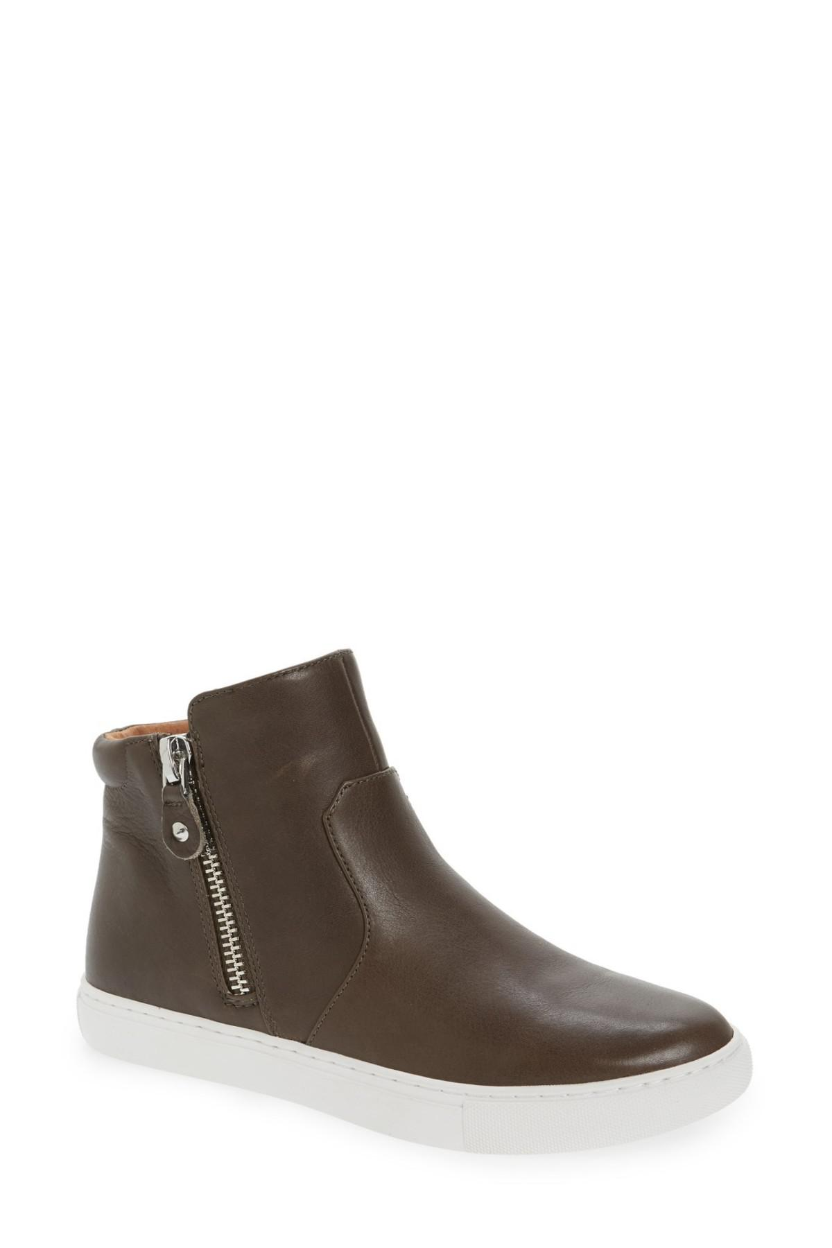 224efe67a1ca10 Lyst - Gentle Souls Carole Leather Sneakers in Brown