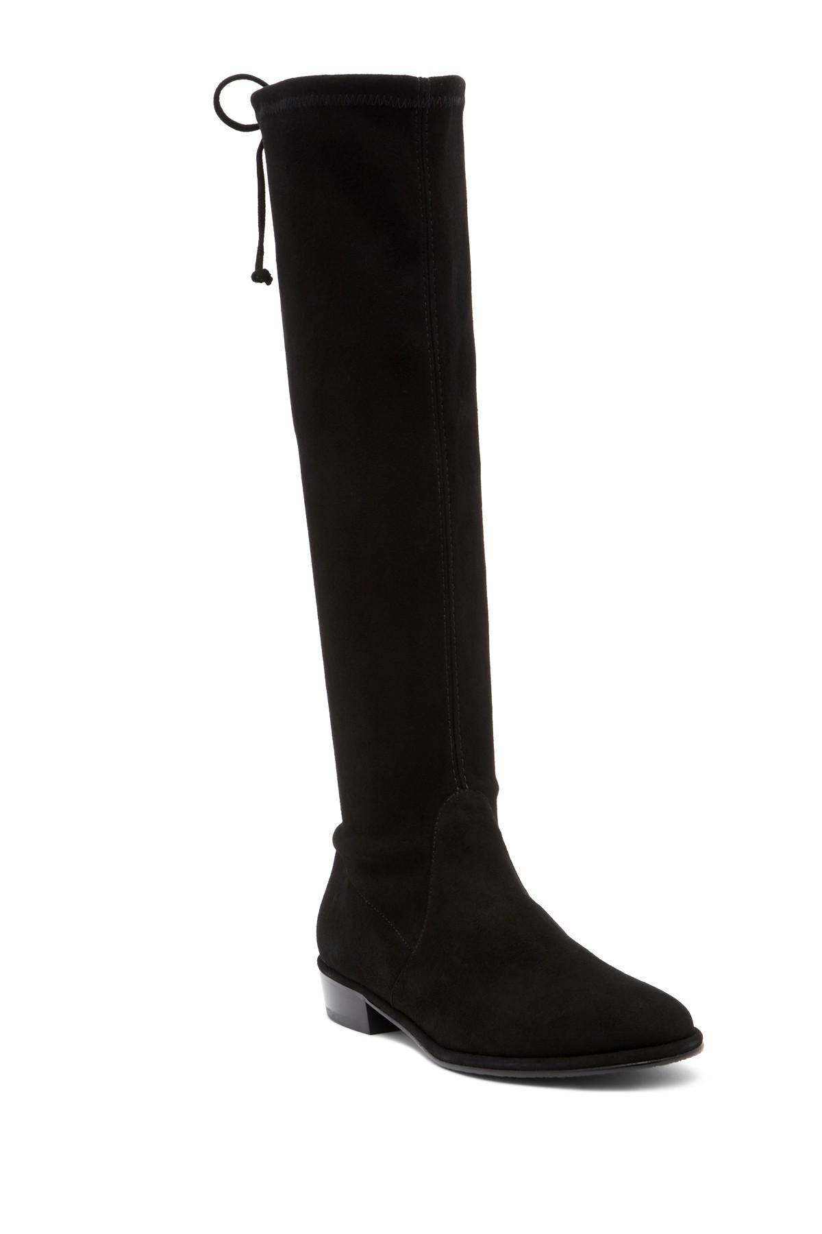 Stuart Weitzman Suede Lowland Thigh High Boots In Black