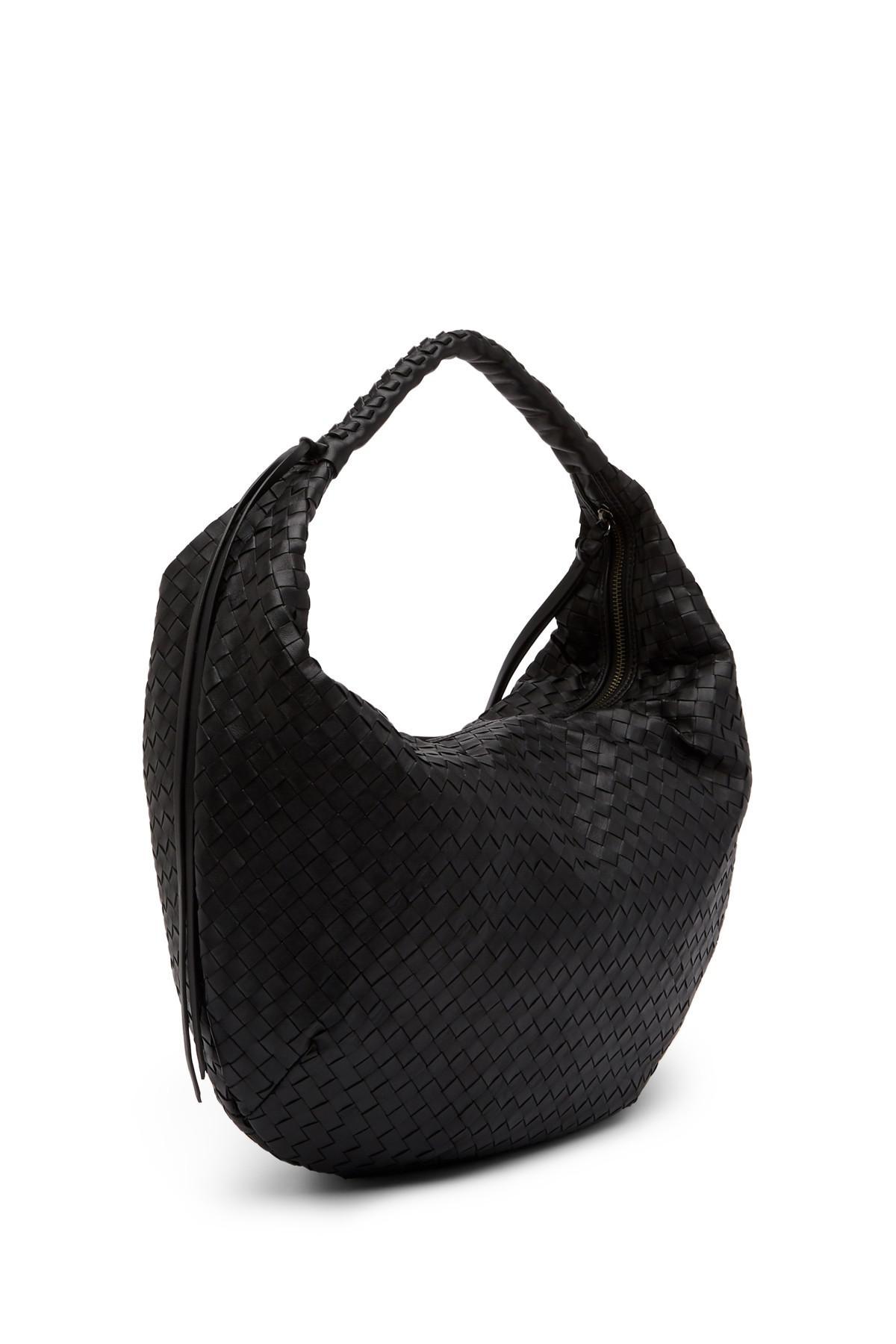 fa90d1f9f65 ... Christopher Kon Woven Leather Hobo Bag in Black - Lyst the best  attitude 4d612 86d73  Christopher Kon Shoulder ...